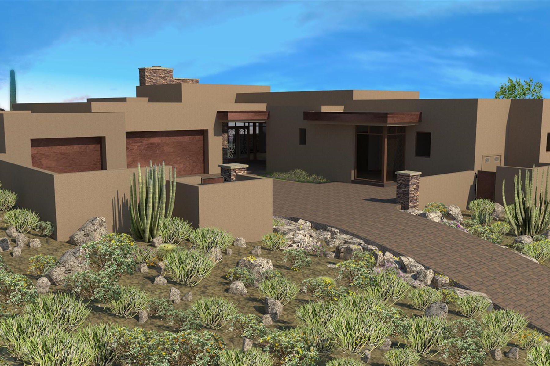 Casa para uma família para Venda às Contemporary new build by Red Moon Homes 39593 N 104TH ST Scottsdale, Arizona, 85262 Estados Unidos
