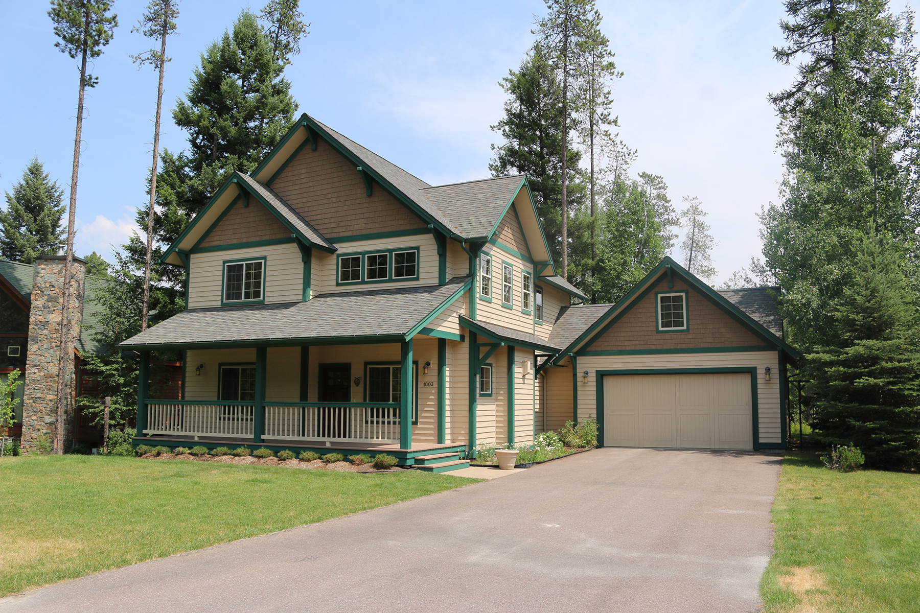 Single Family Home for Sale at Custom Built Home 1003 Mountain Park Drive Whitefish, Montana 59937 United States