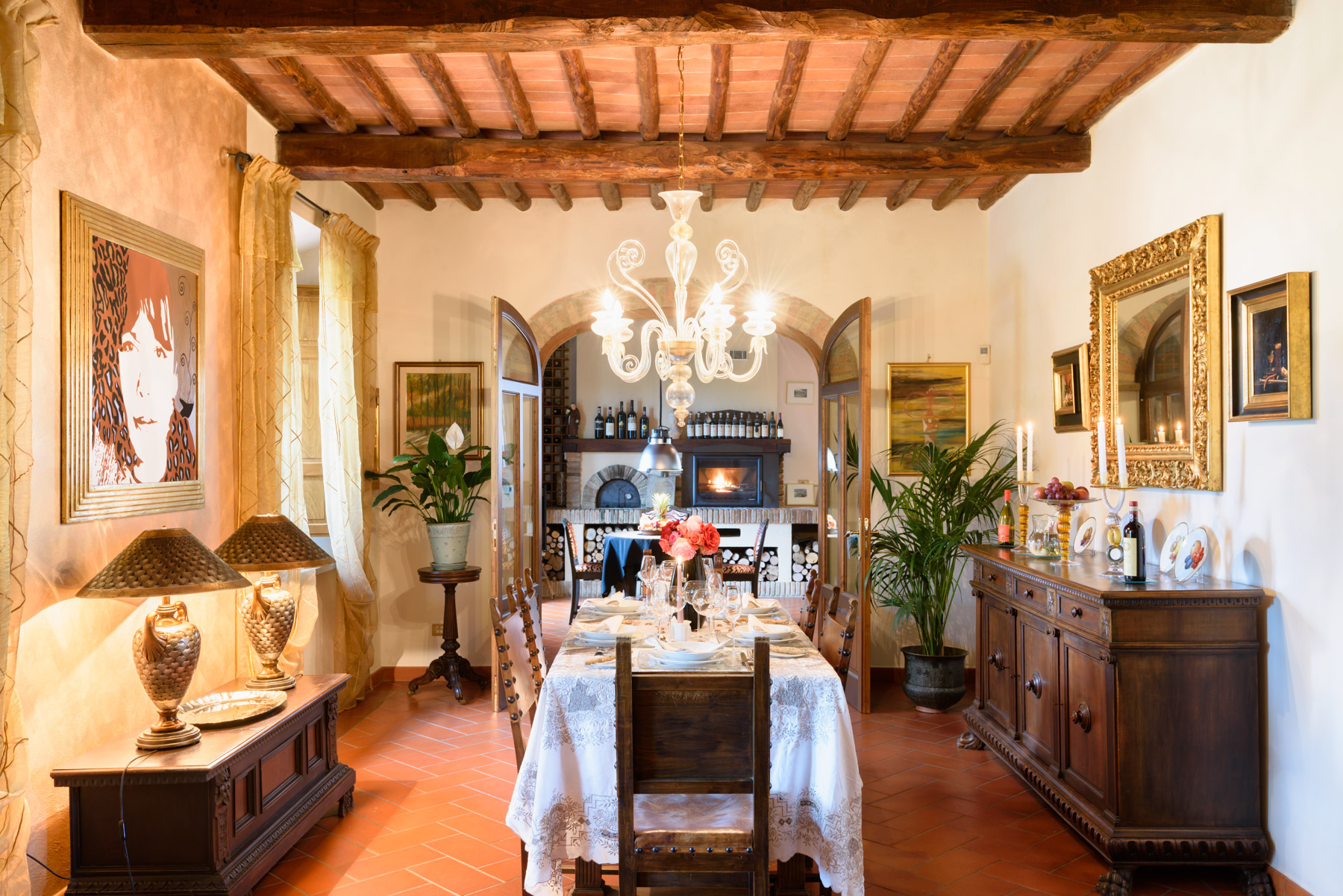 Additional photo for property listing at Idyllic Tuscan villa and vineyard Castellina In Chianti, Siena Italie