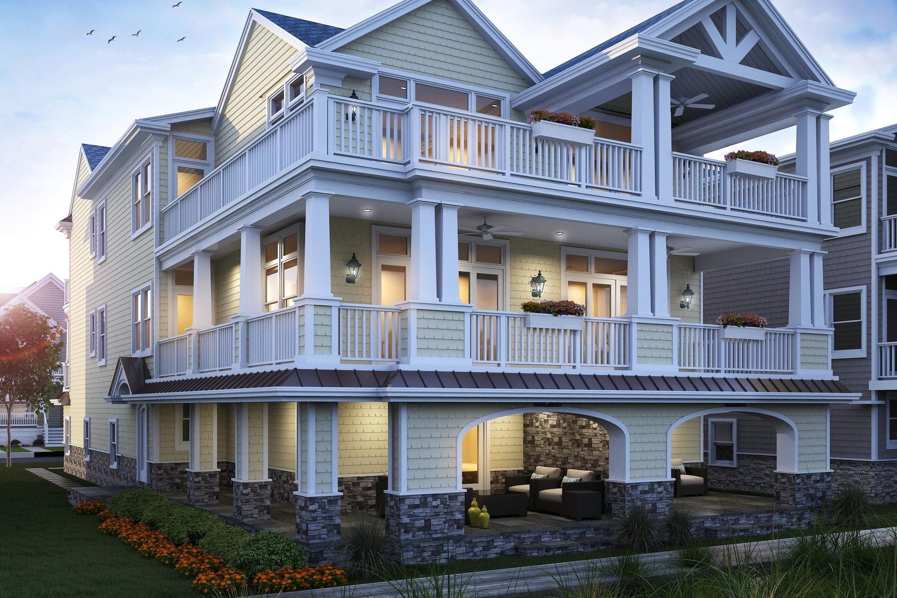 дуплекс для того Продажа на Tranquil Beachfront Duplex 3004-06 Wesley Avenue Ocean City, 08226 Соединенные Штаты
