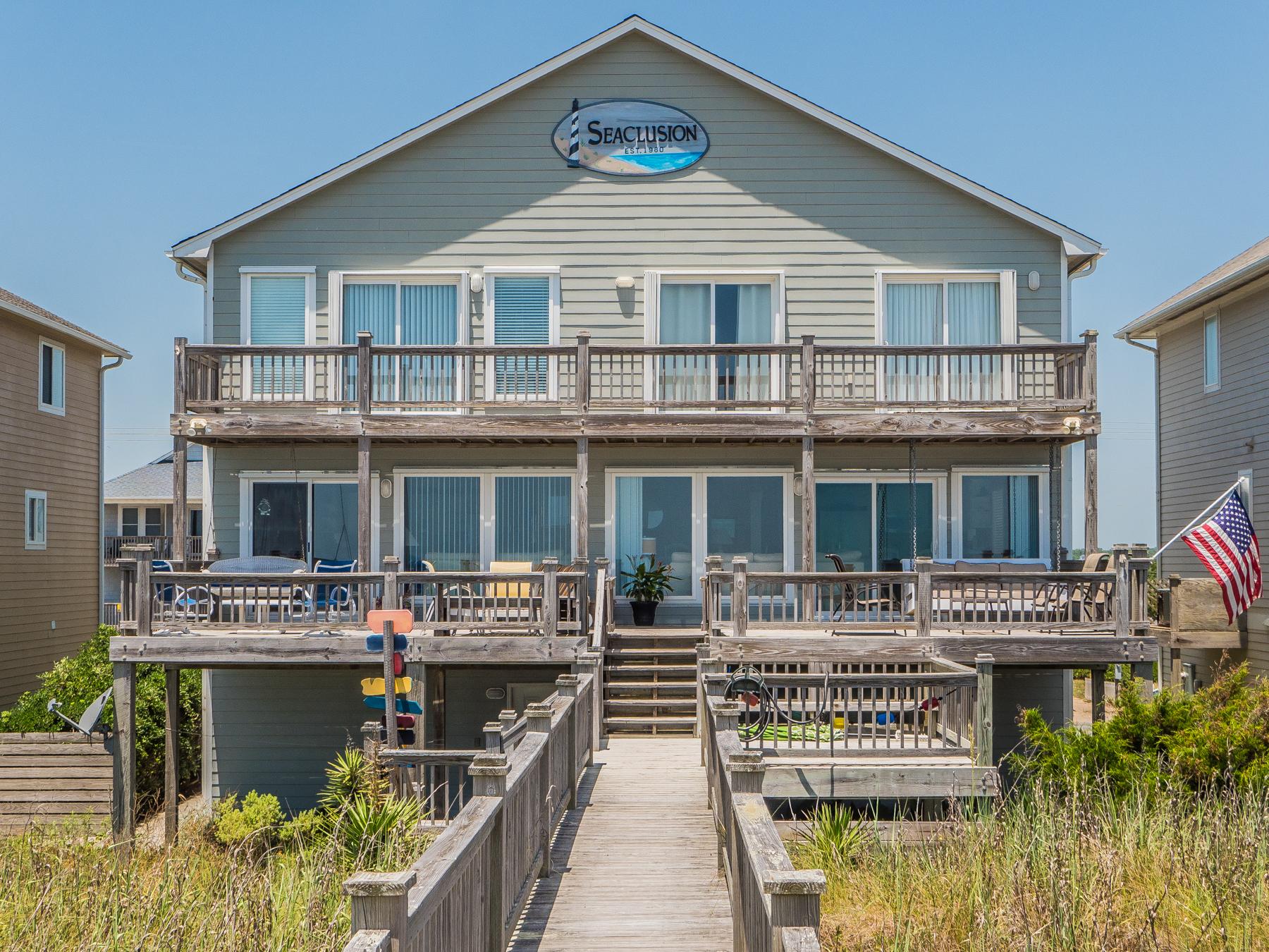 獨棟家庭住宅 為 出售 在 Oceanfront Magnificence 508 South Shore Drive Surf City, 北卡羅來納州 28445 美國