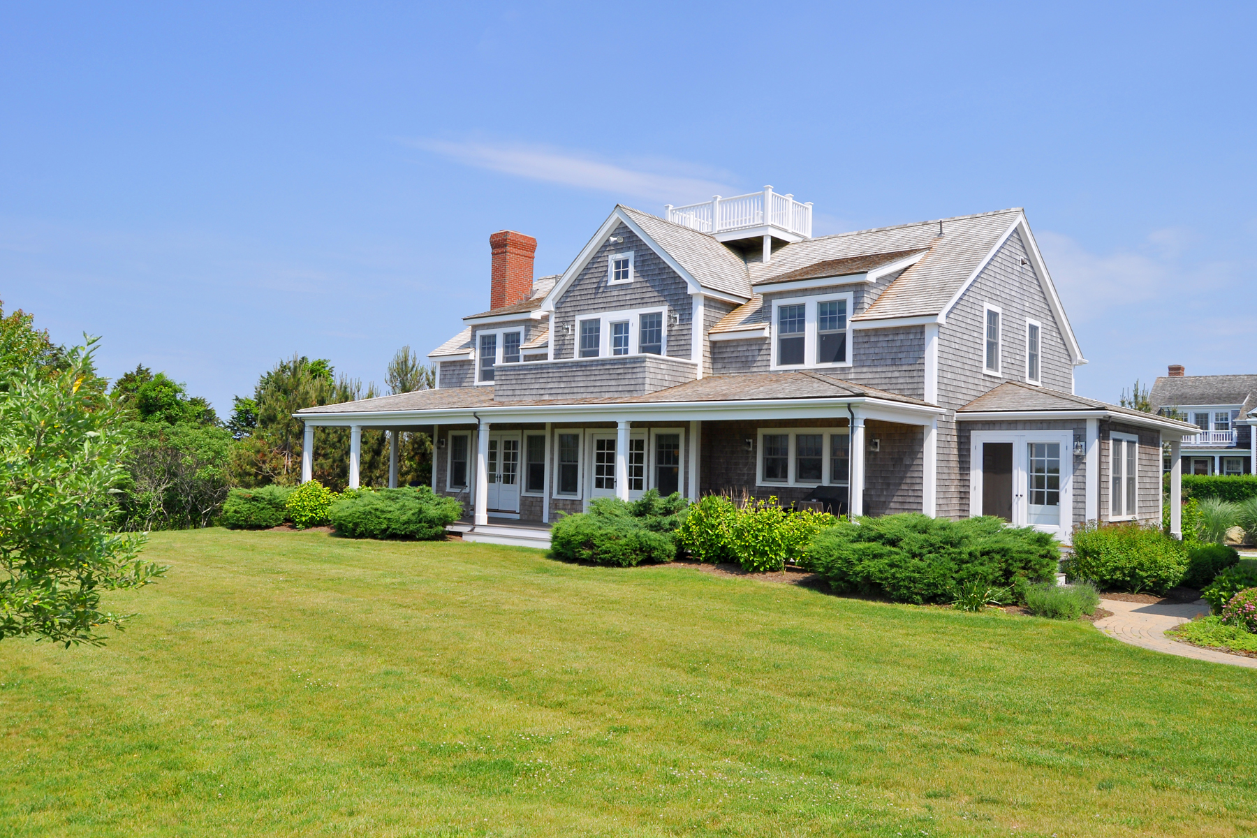 Single Family Home for Sale at Atlantic Ocean Views and Privacy 16 Plainfield Road Siasconset, Massachusetts 02564 United States