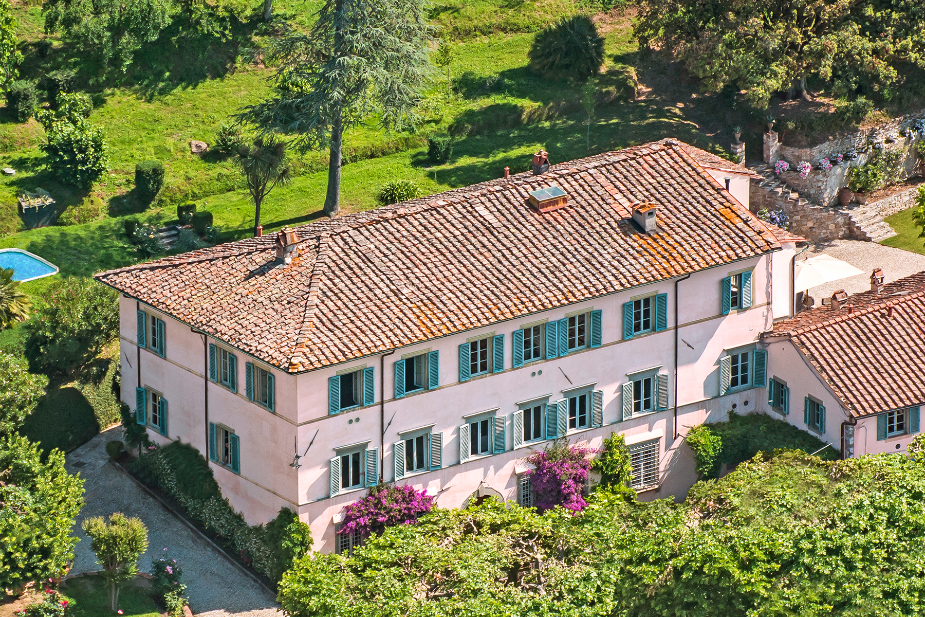 Single Family Home for Sale at Traditional two story villa overlooking the valley Lucca, Italy