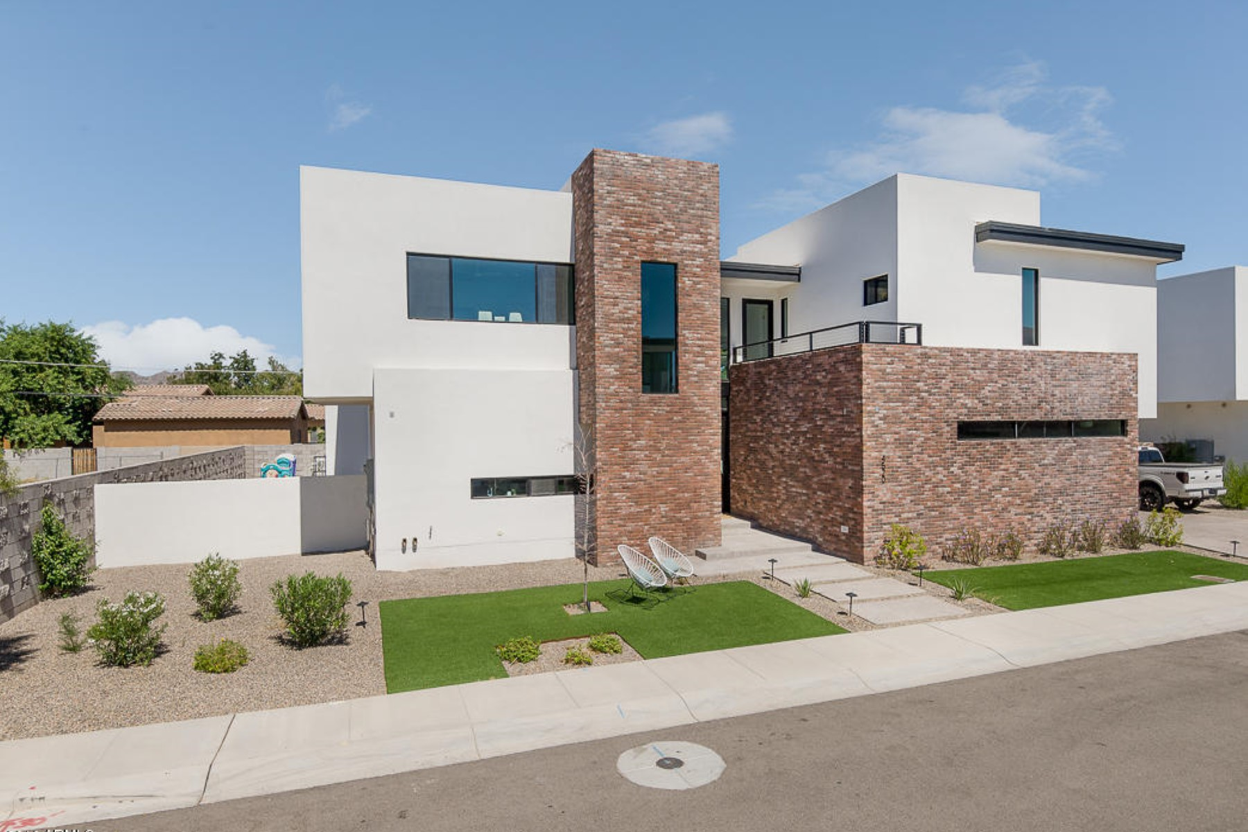 Property Of Two story home is due the incredible collaboration of famed architect David Dick