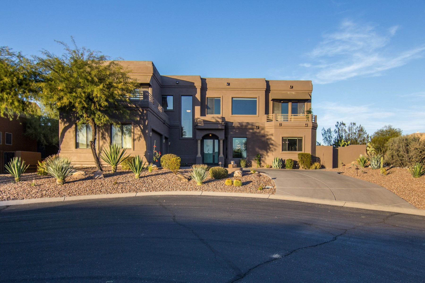 Single Family Home for Sale at Desert living with a modern flare in guard gated Troon North 10970 E Dale Ln Scottsdale, Arizona, 85262 United States
