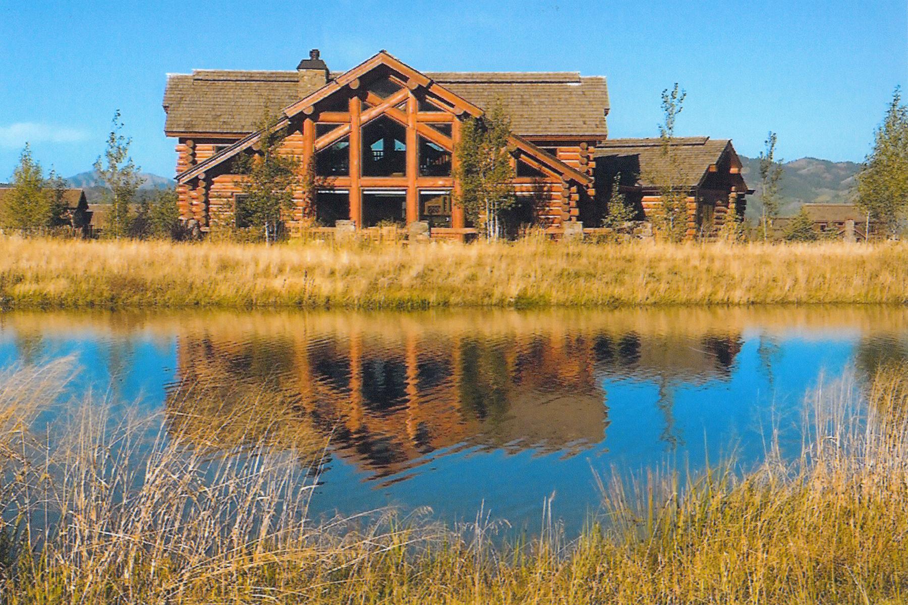 Casa Unifamiliar por un Venta en Custom Log Home at Teton Springs 5 Springs Parkway Victor, Idaho, 83455 Jackson Hole, Estados Unidos
