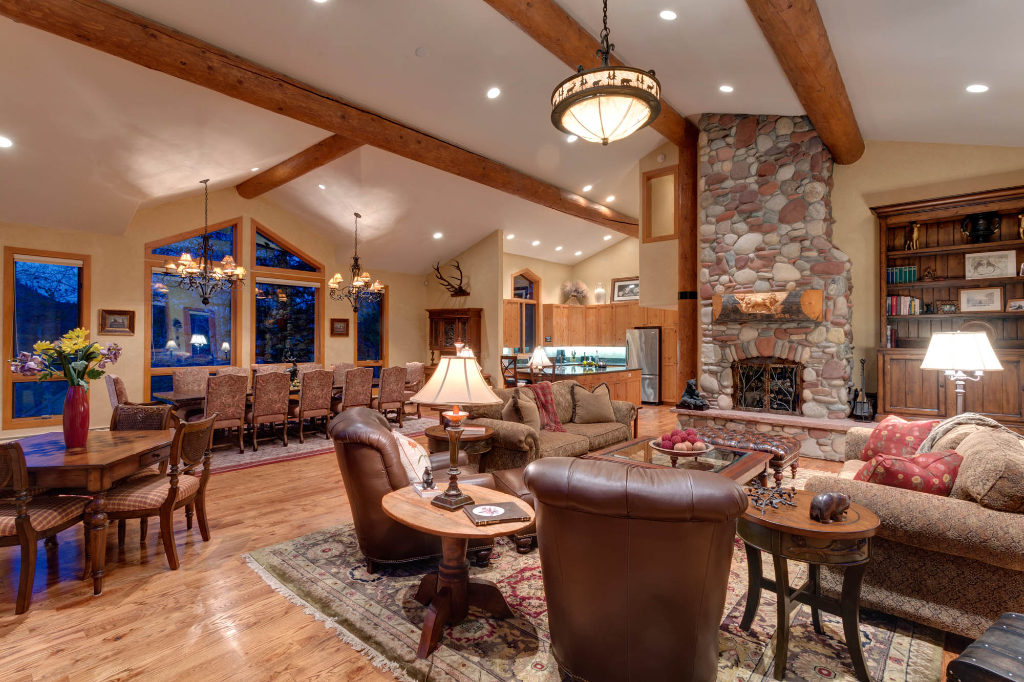 Property For Sale at Warm, Elegant Snowmass Home