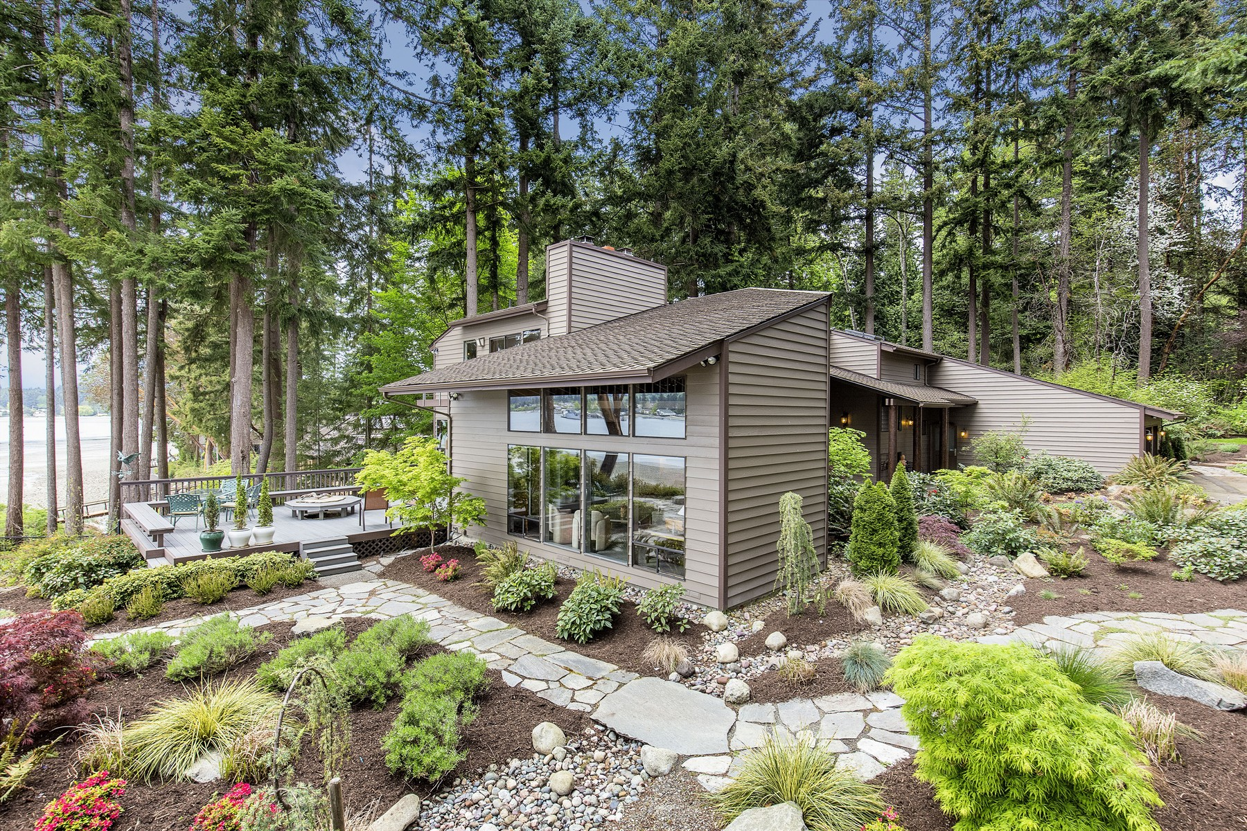 Single Family Home for Sale at NW Contemporary Waterfront 15985 Lemolo Shore Dr NE Poulsbo, Washington 98370 United States