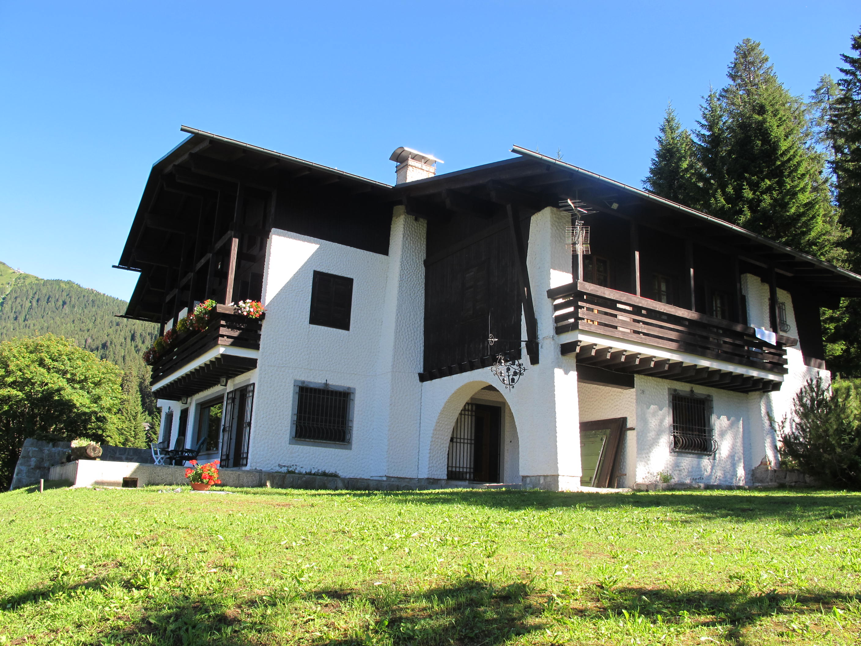 Single Family Home for Sale at Mountain villa with private park on the Dolomites Madonna di Campiglio Madonna Di Campiglio, Trento 38086 Italy