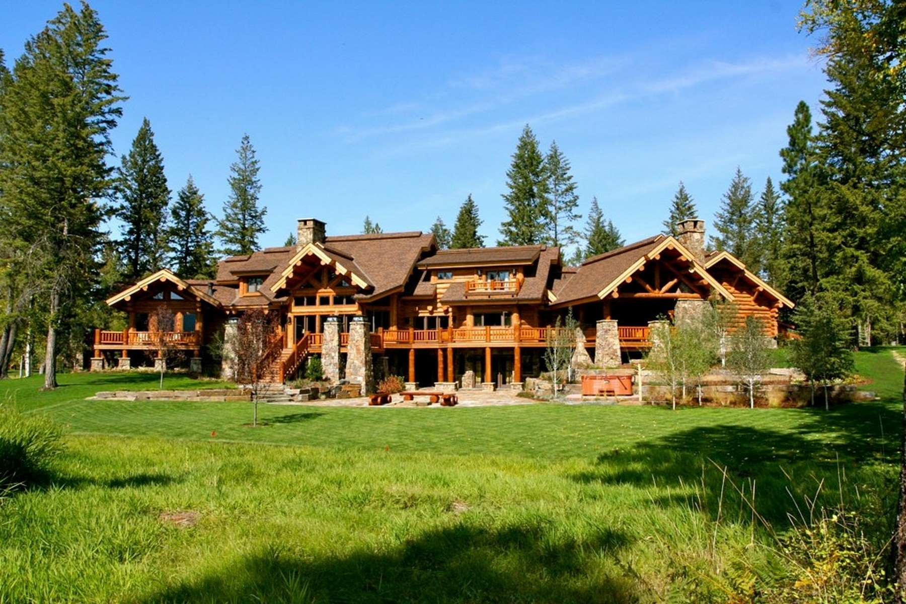 Property For Sale at Stunning Montana Log Home