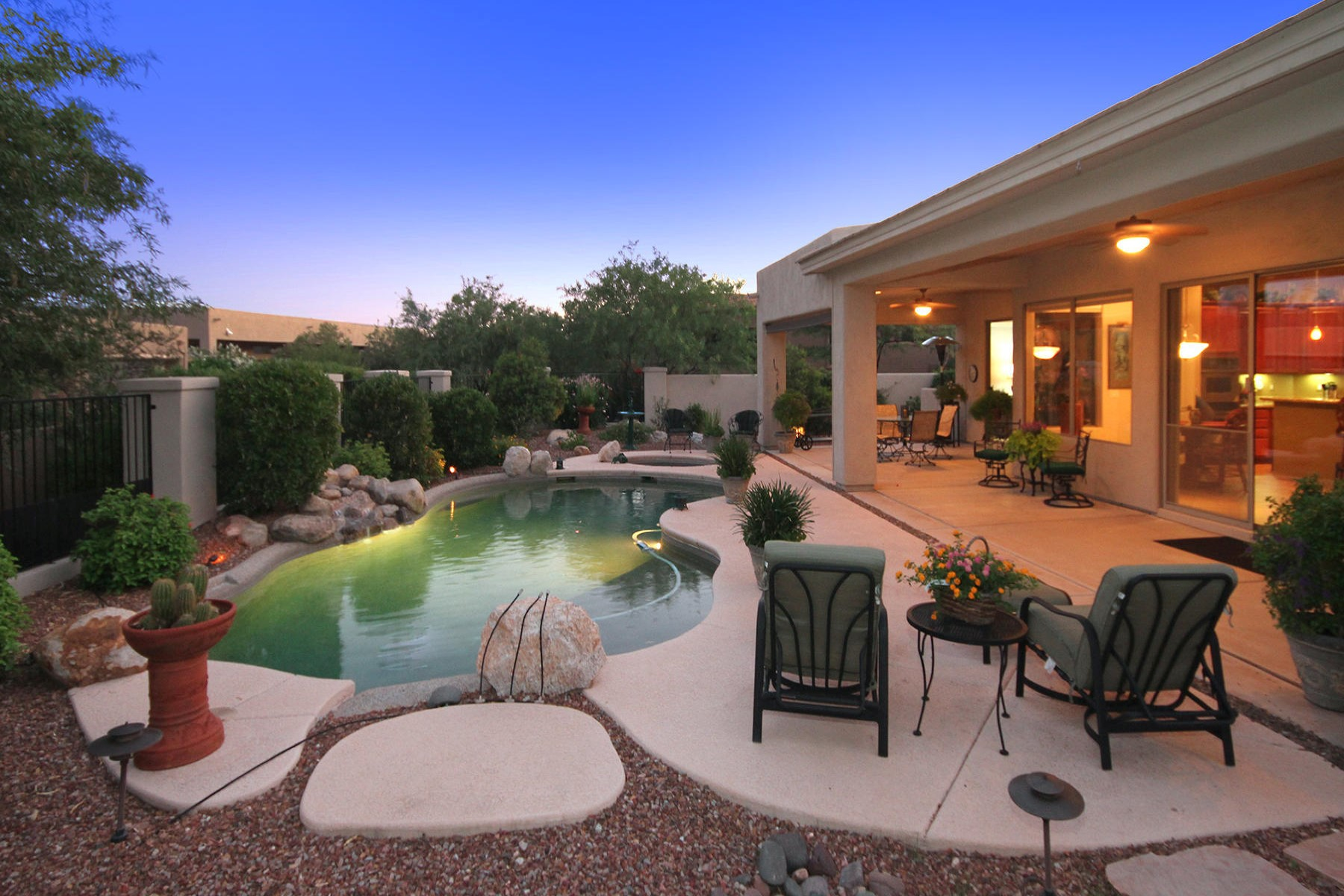 Single Family Home for Sale at Amazing Pepper Viner Home located on a Beautiful Lot in Golf Gated community. 13842 N Javelina Springs Place Oro Valley, Arizona 85755 United States