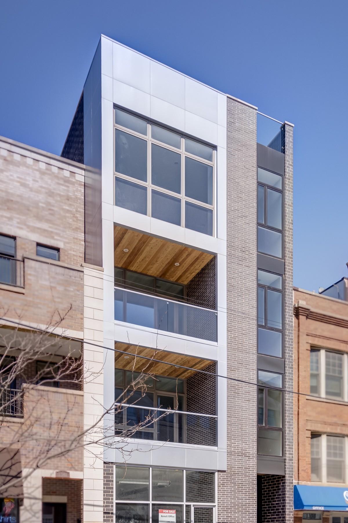 콘도미니엄 용 매매 에 Sleek Contemporary Condo 1338 W Belmont Avenue Unit 4 Lakeview, Chicago, 일리노이즈, 60657 미국