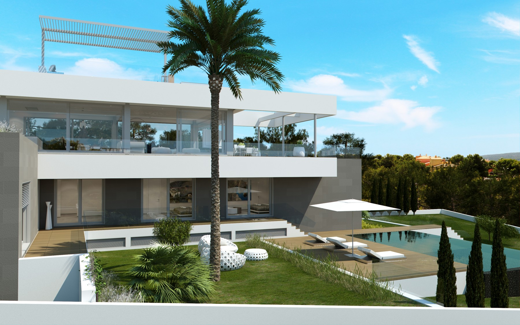 Single Family Home for Sale at Minimalist Project in Santa Ponsa Santa Ponsa, Mallorca, 07081 Spain