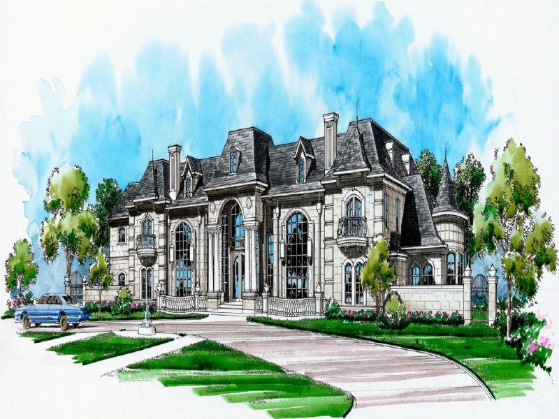 Casa Unifamiliar por un Venta en French Chateau 20 Rock Ledge Road Saddle River, Nueva Jersey 07458 Estados Unidos