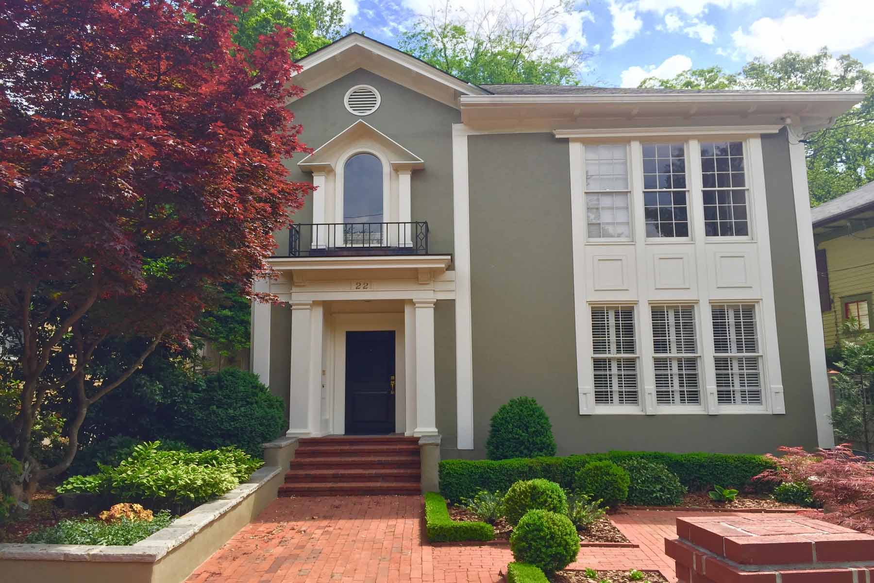 단독 가정 주택 용 매매 에 Sophisicated Ansley Park home! 22 The Prado NE Ansley Park, Atlanta, 조지아, 30309 미국