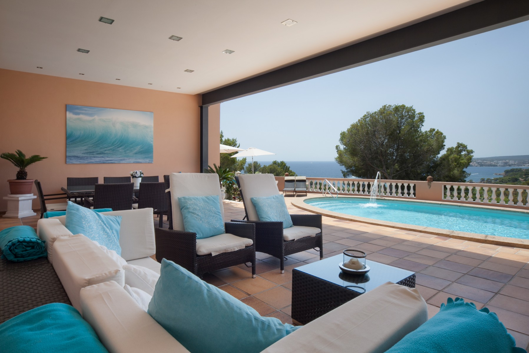 Single Family Home for Rent at Villa with sea view in Costa d'en Blanes Costa Den Blanes, Mallorca 07180 Spain