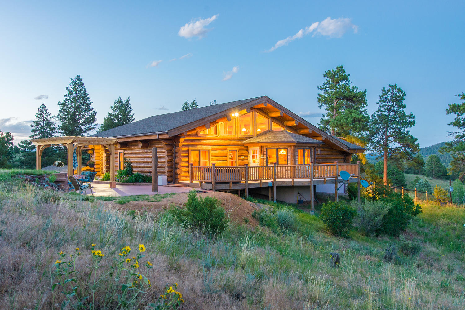 Single Family Home for Sale at Hand-Hewn Log Home 19968 Argentine Way Buffalo Creek, Colorado, 80425 United States