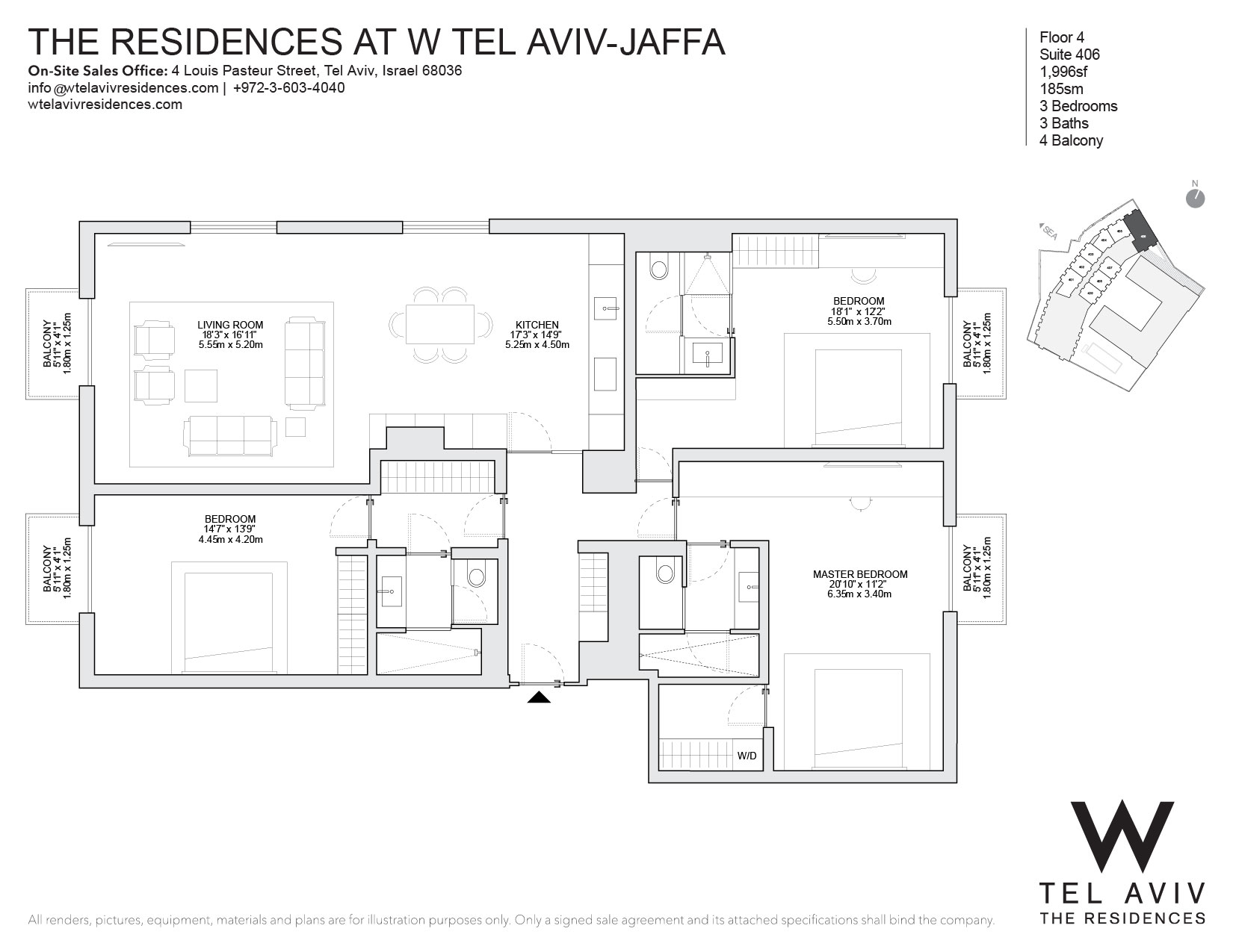 Apartment for Sale at W Tel Aviv Residences, 406 Luxury Apartment Tel Aviv, Israel Israel
