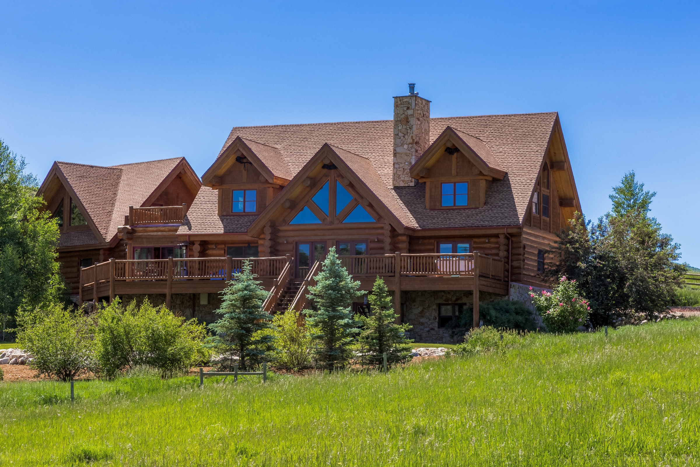 Single Family Home for Sale at Luxury Log Home in Creek Ranch 32255 Mack Lane Steamboat Springs, Colorado, 80487 United States