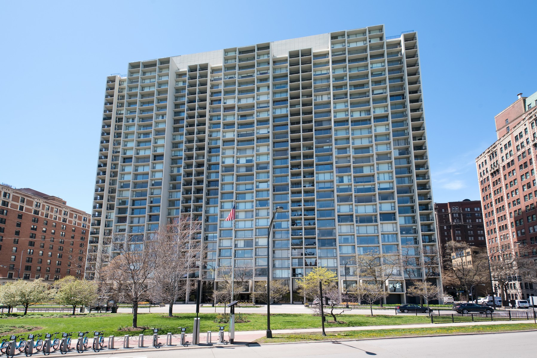 Condominium for Sale at Sun-Drenched Unit Overlooking Belmont Harbor 3200 N Lake Shore Drive Unit 502 Lakeview, Chicago, Illinois, 60657 United States
