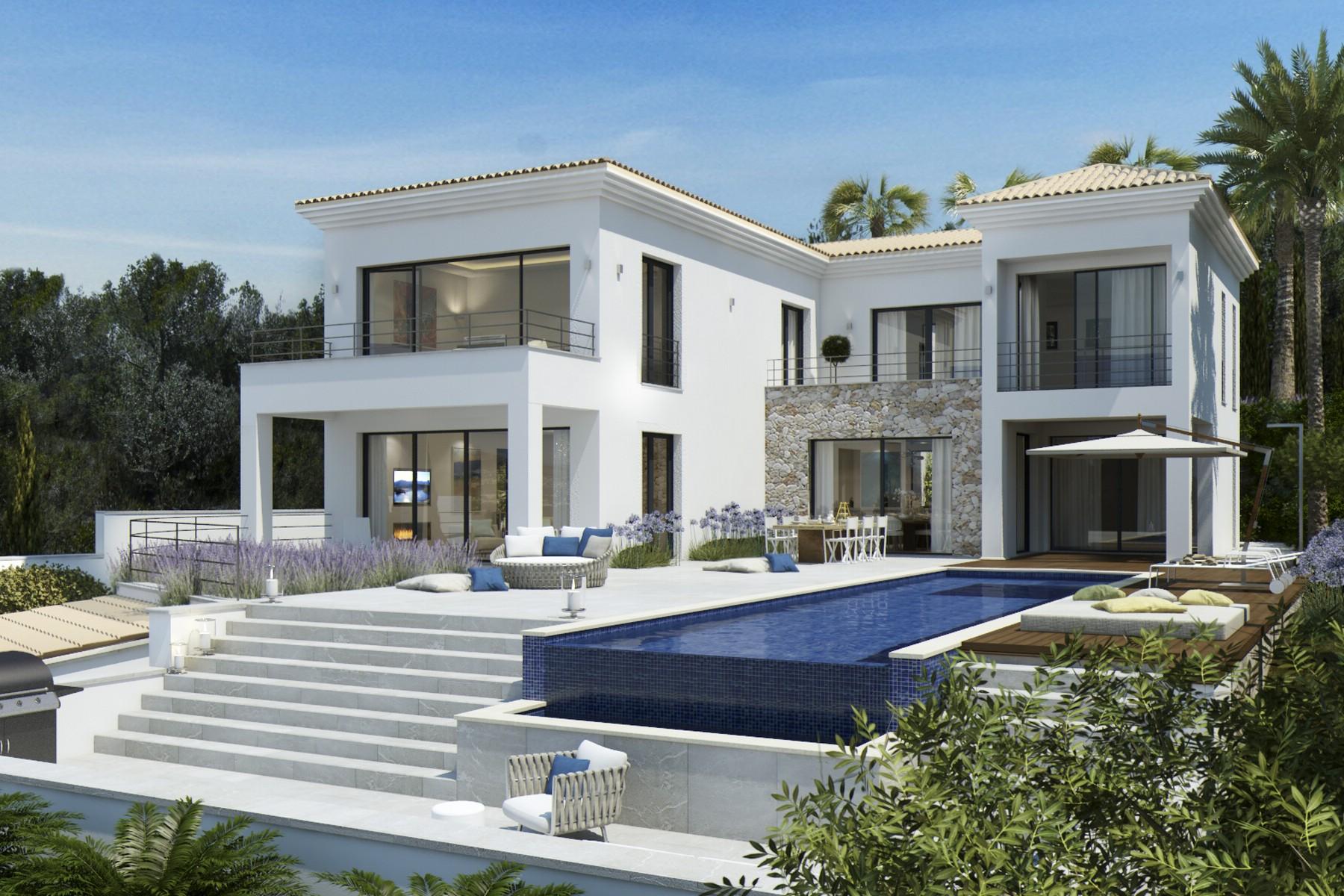 Villa per Vendita alle ore Renewed Villa with seaview in Santa Ponsa Nova Santa Ponsa, Maiorca, 07180 Spagna