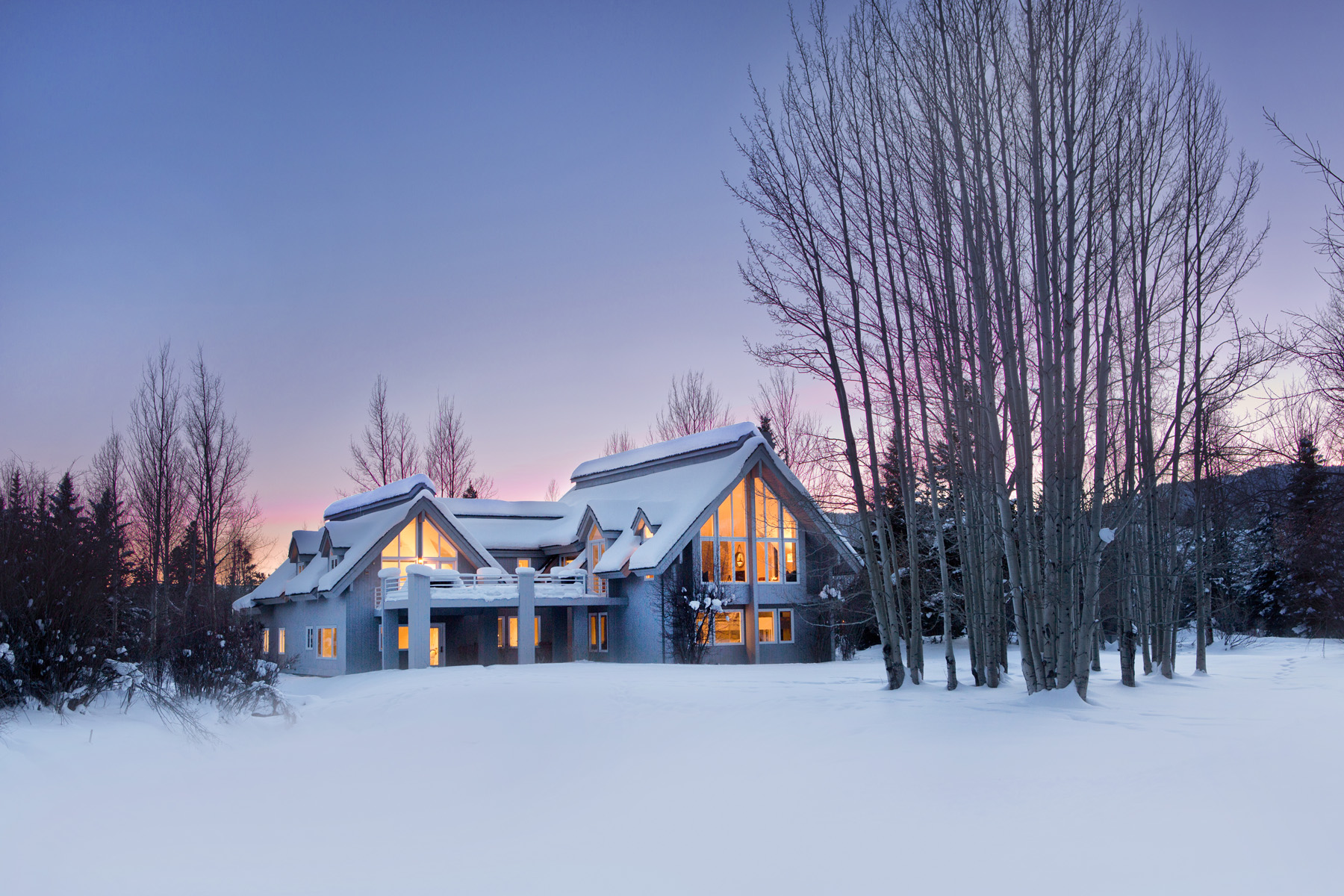Property For Sale at Chic Teton Pines Estate Home
