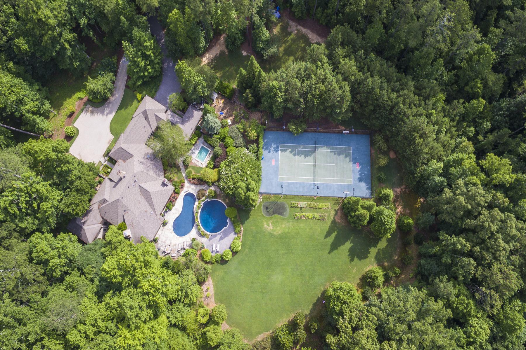 独户住宅 为 销售 在 One Of A Kind French Country European Estate 159 Lambets Way Johns Creek, 乔治亚州, 30005 美国