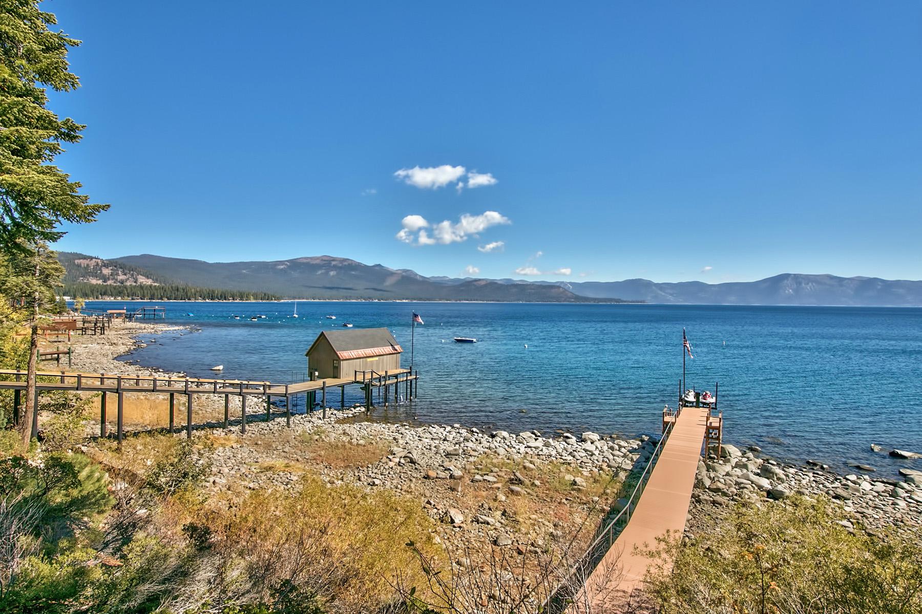 土地 为 销售 在 Coveted Lakefront Lot with Private Pier and Boat Lift 4250 North Lake Blvd Carnelian Bay, 加利福尼亚州 96140 美国