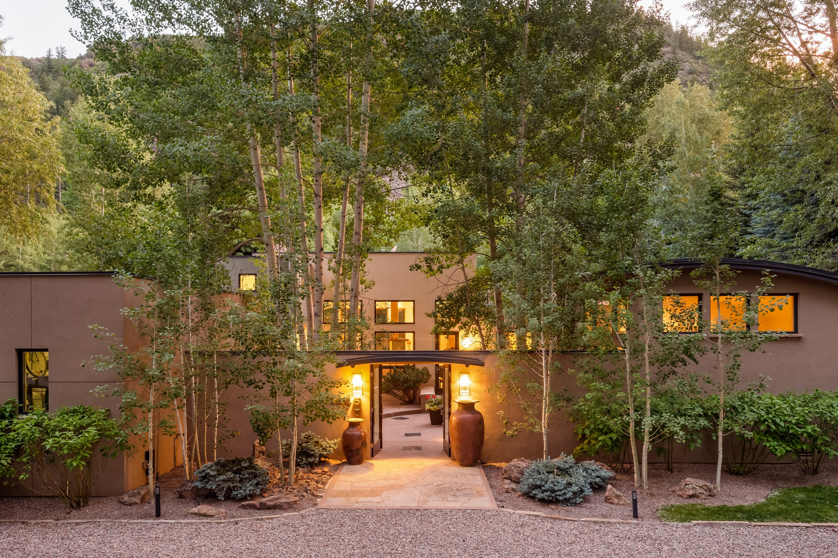 Single Family Home for Sale at Contemporary Home & Guest House in West Aspen 1445 Red Butte Drive West Aspen, Aspen, Colorado, 81611 United States