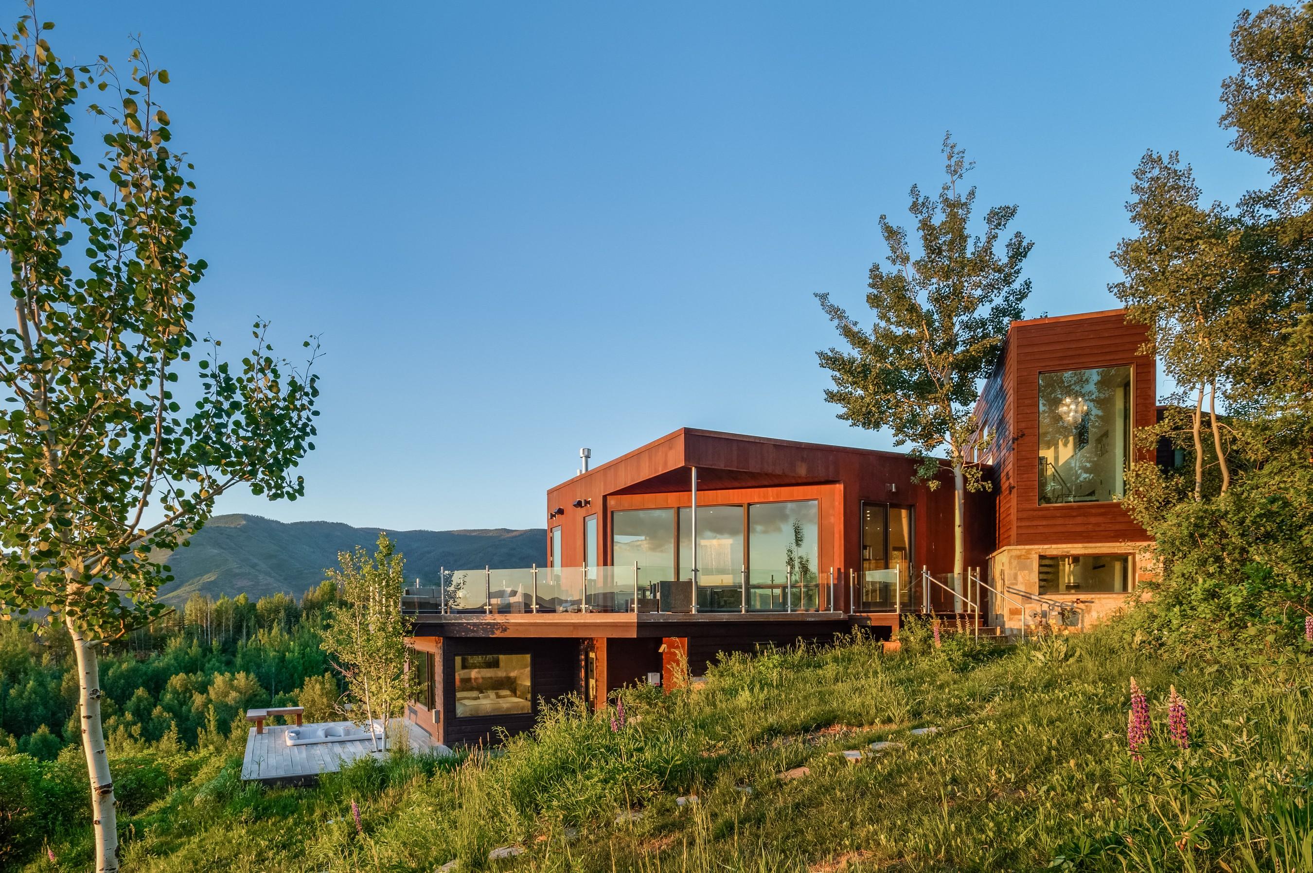 Частный односемейный дом для того Продажа на Contemporary Starwood Estate 567 North Starwood Drive Aspen, Колорадо 81611 Соединенные Штаты