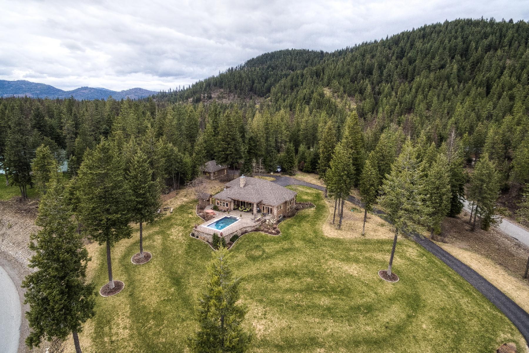 Casa Unifamiliar por un Venta en ELKHORN RANCH ESTATES 23221 N TEDDY LOOP Rathdrum, Idaho, 83858 Estados Unidos