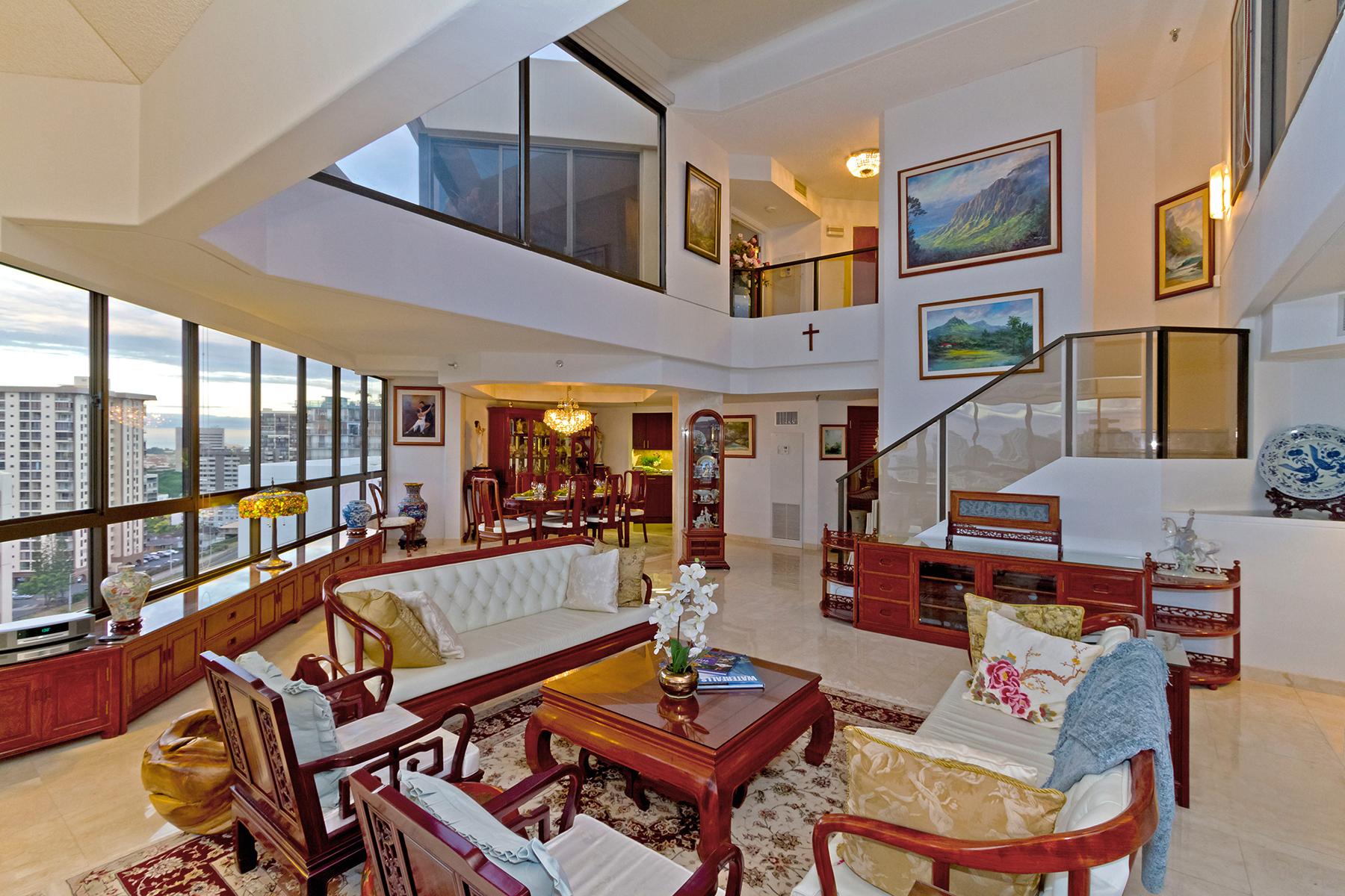 Condominium for Sale at Unique Continental Plaza Penthouse Continental Plaza 1050 Lunalilo St PH5 Honolulu, Hawaii 96822 United States