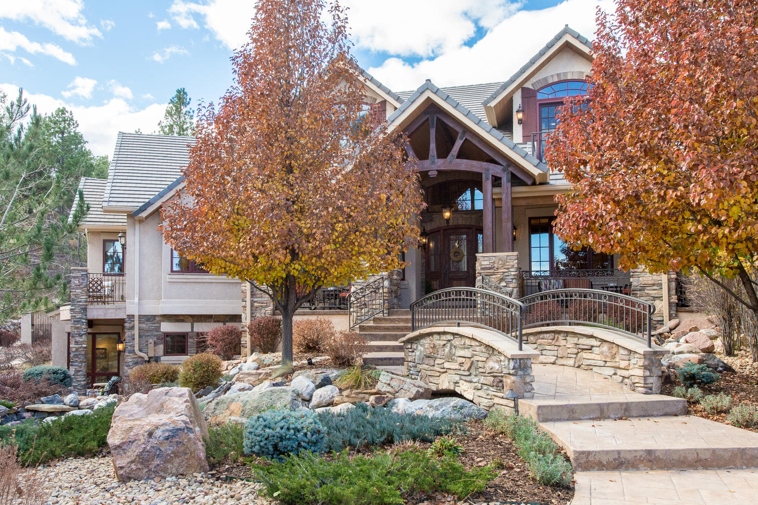 Single Family Home for Active at Magnificent 3+ Acre Flag Lot 7610 Winding Oaks Drive Colorado Springs, Colorado 80919 United States