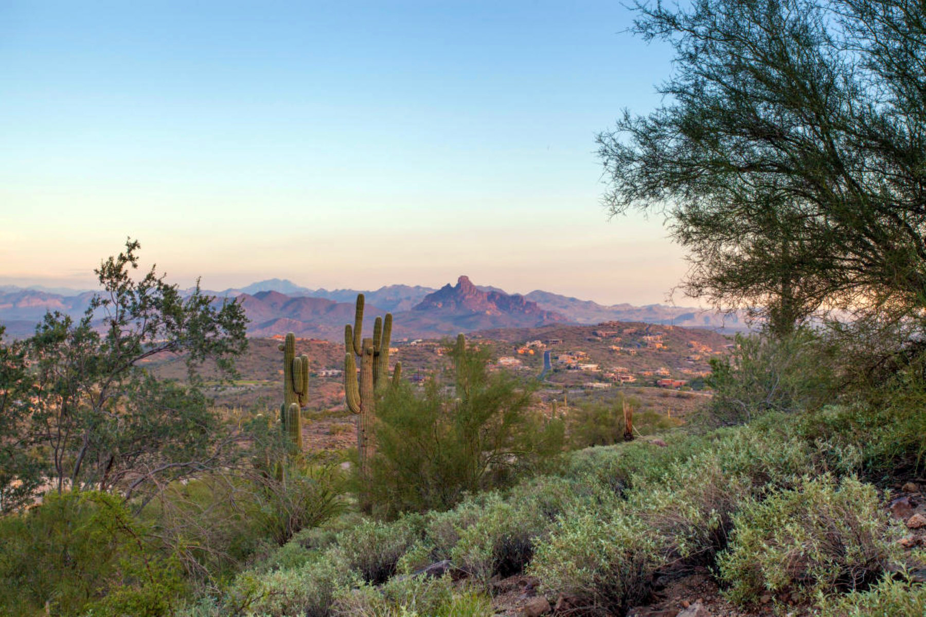 Property For Sale at Elevated 3+ Acre Homesite With Spectacular Mountain & City Light Views