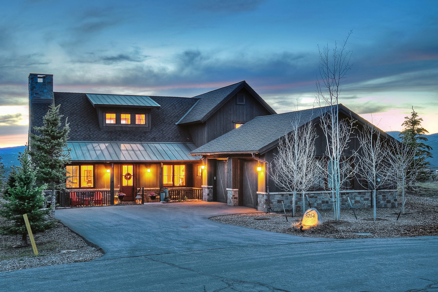 Single Family Home for Sale at New Upgraded Trapper Cabin with Views 8204 Western Sky Lot 24 Park City, Utah 84098 United States