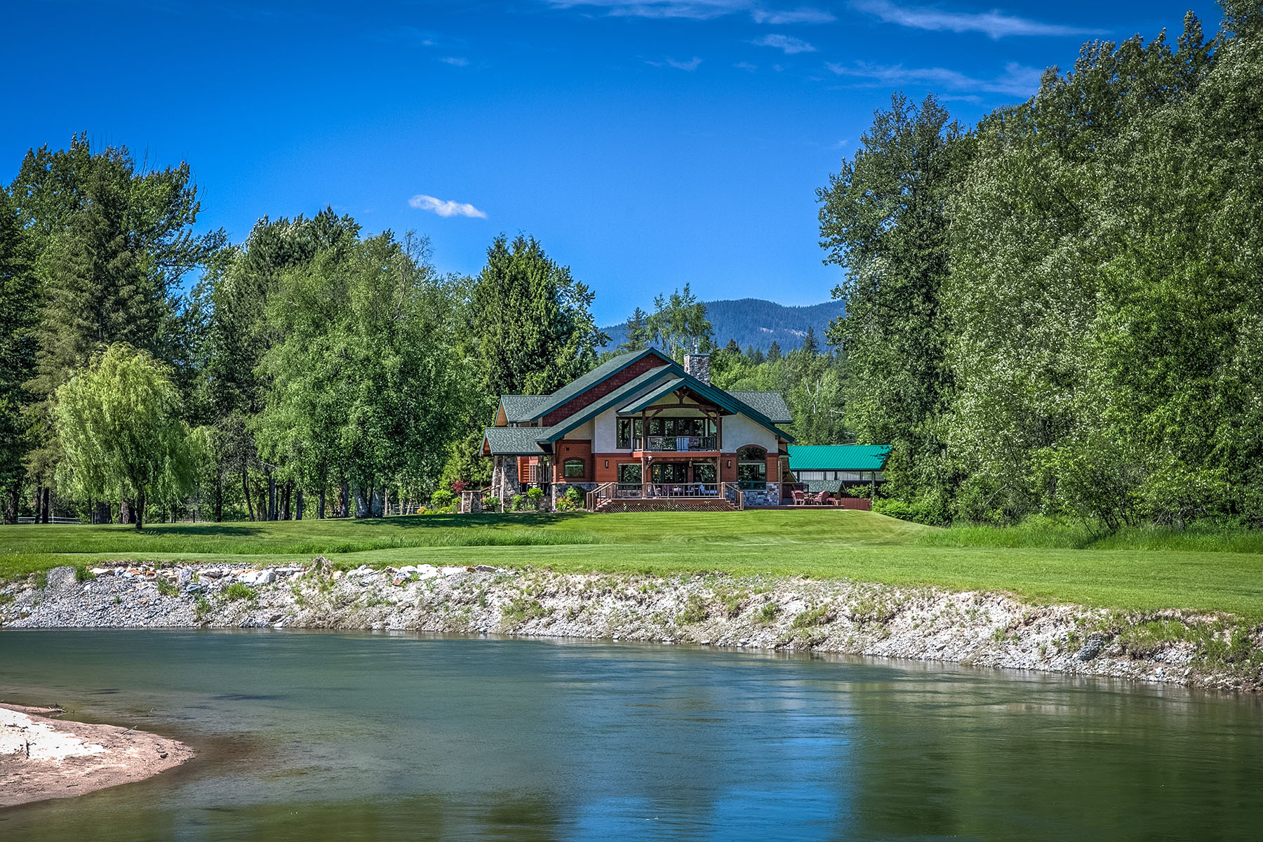 Single Family Home for Sale at Riverfront Equestrian Estate 185 Selkirk View Road Sandpoint, Idaho, 83864 United States