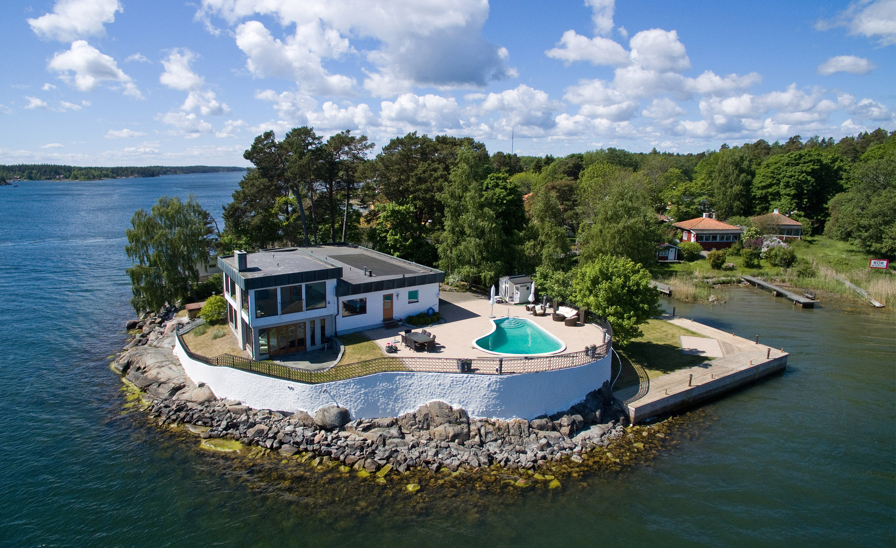 sales property at Private island with a bridge