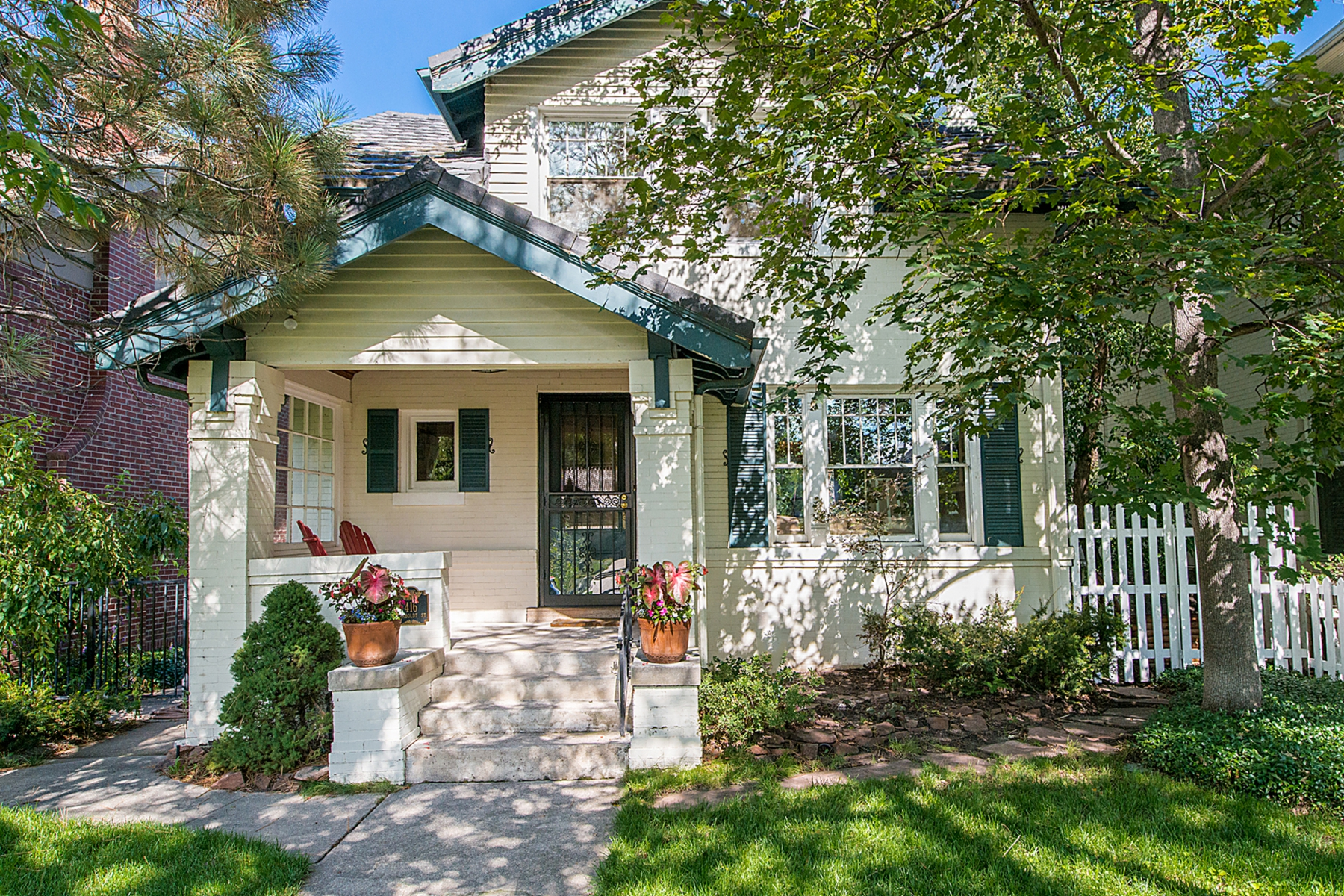 Single Family Home for Sale at Charming Historic Country Club Home 416 Humboldt Street Denver, Colorado 80218 United States