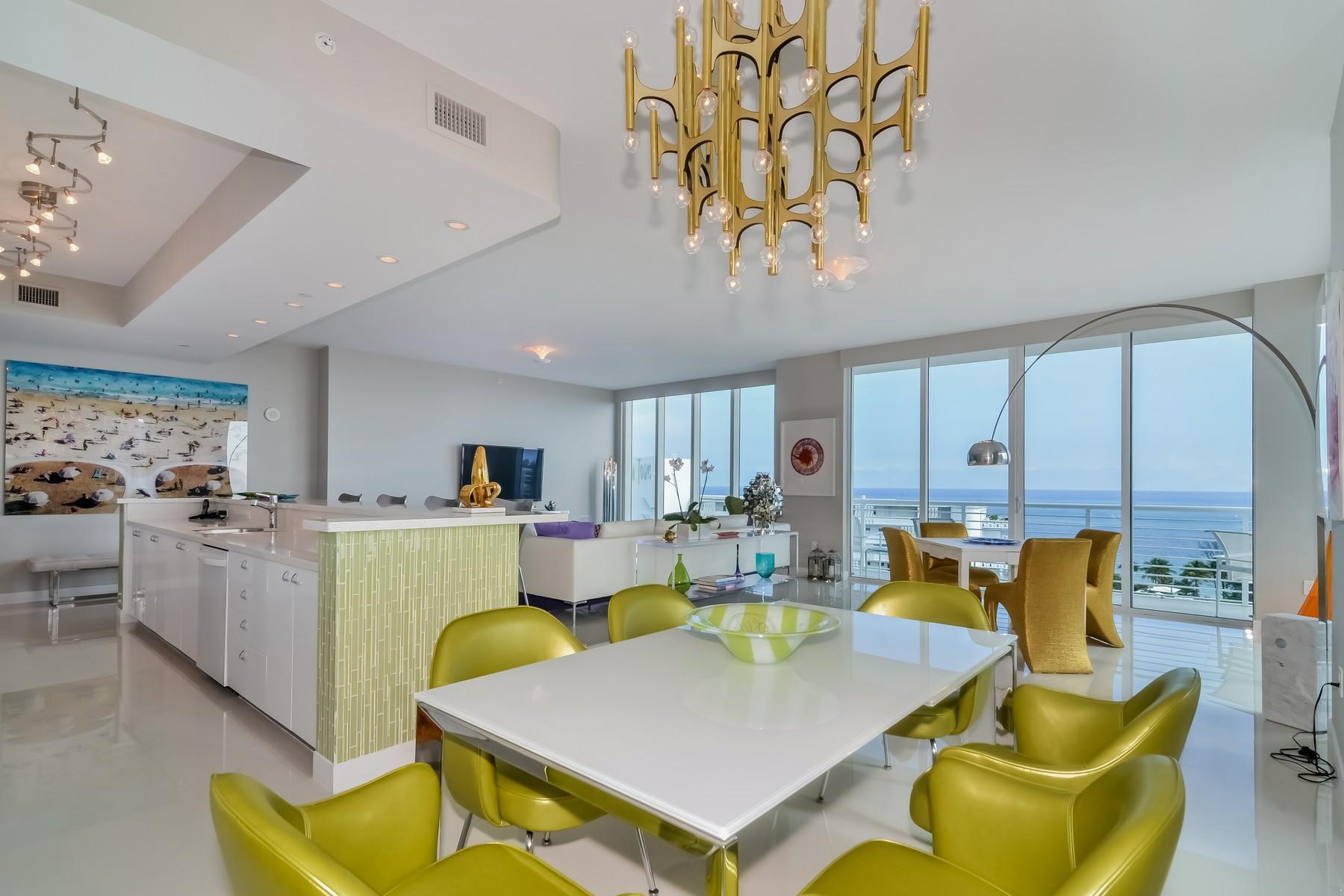 Condomínio para Venda às Sapphire 2821 N. Ocean Blvd. PH #5 Fort Lauderdale, Florida 33308 Estados Unidos