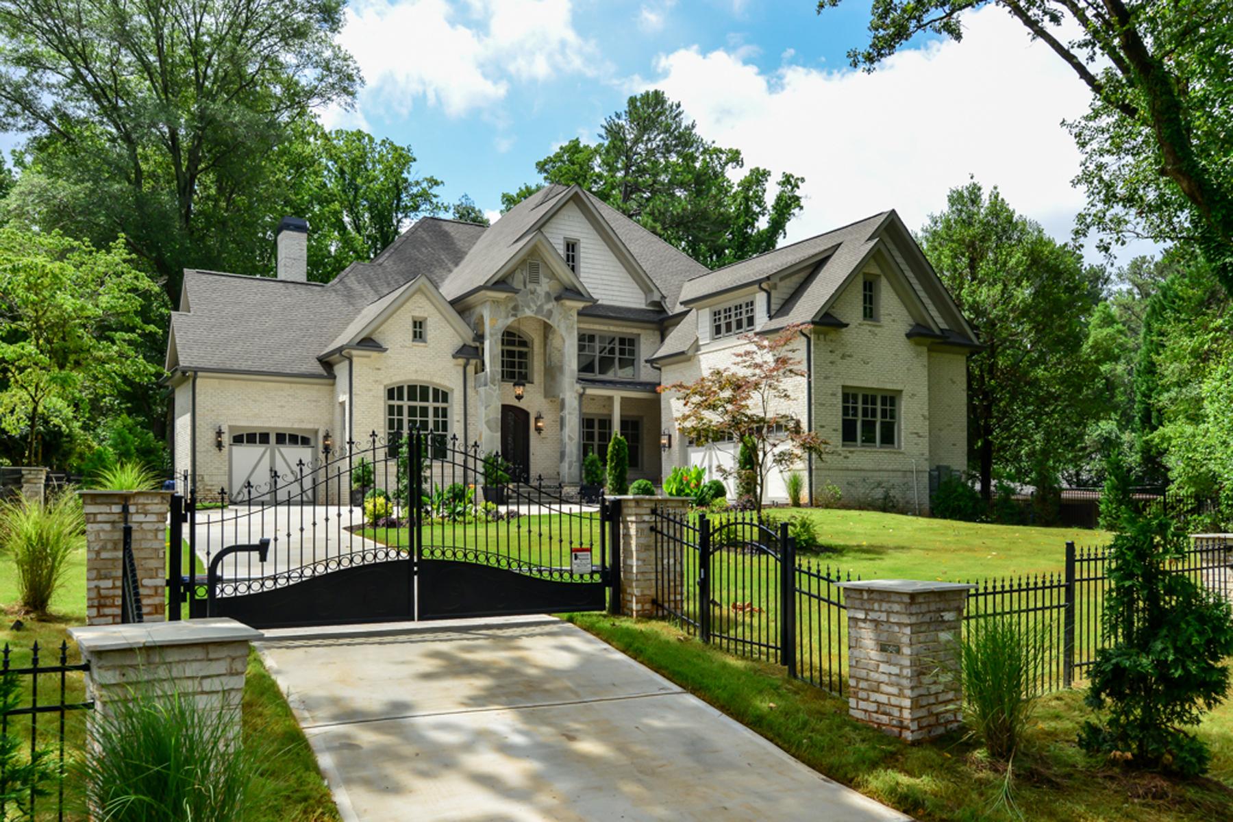 Casa Unifamiliar por un Venta en New Grand Buckhead Executive Estate 756 Moores Mill Road Atlanta, Georgia, 30327 Estados Unidos