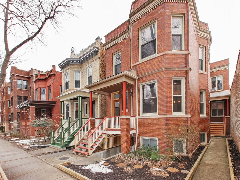 Apartamentos multi-familiares para Venda às Well Managed 4 Unit Property 5627 North Glenwood Avenue Lakeview, Chicago, Illinois 60660 Estados Unidos