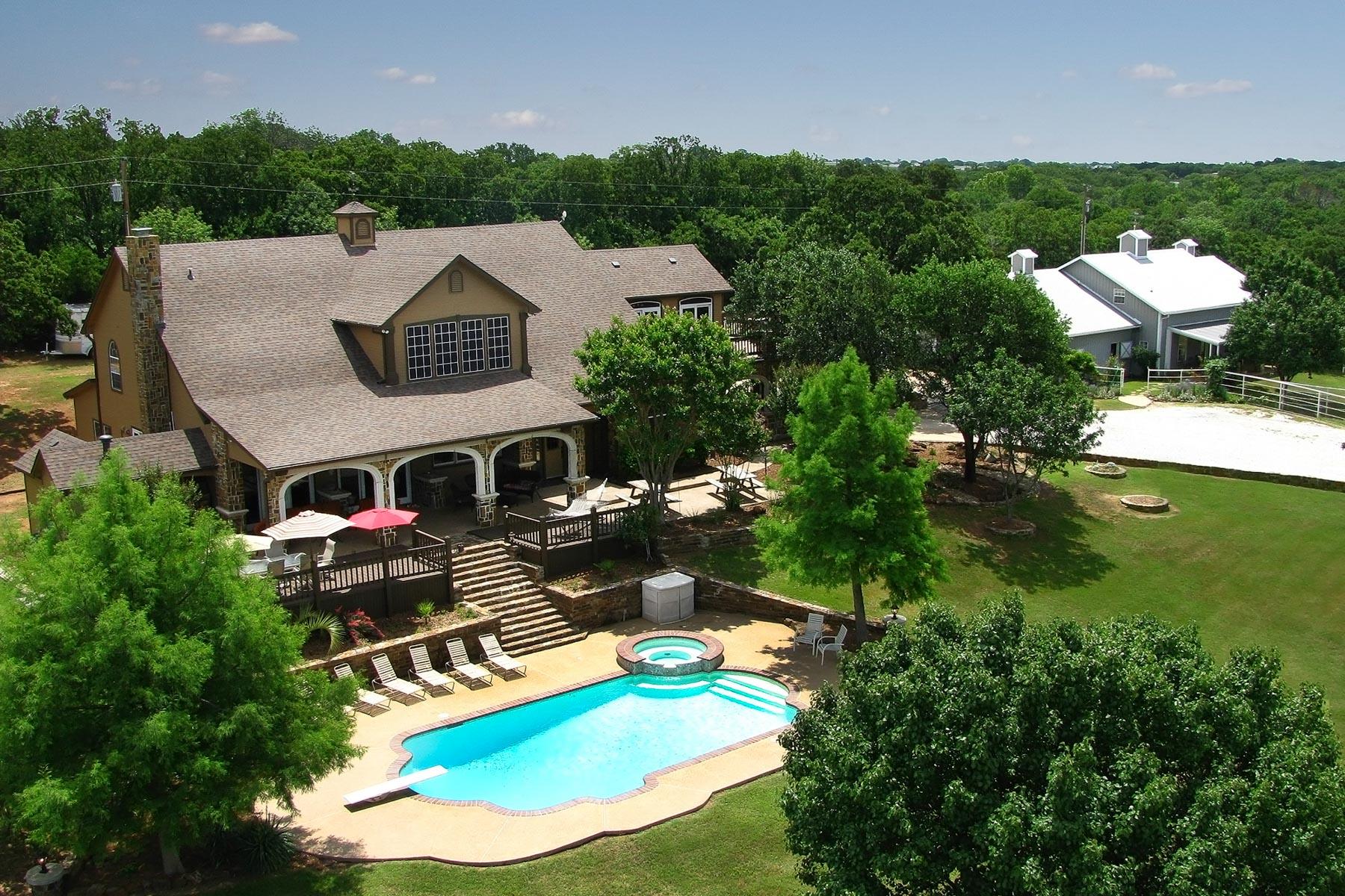 农场 / 牧场 / 种植园 为 销售 在 Mountain View Ranch 6068 Northview Court 奥布里, 得克萨斯州, 76227 美国