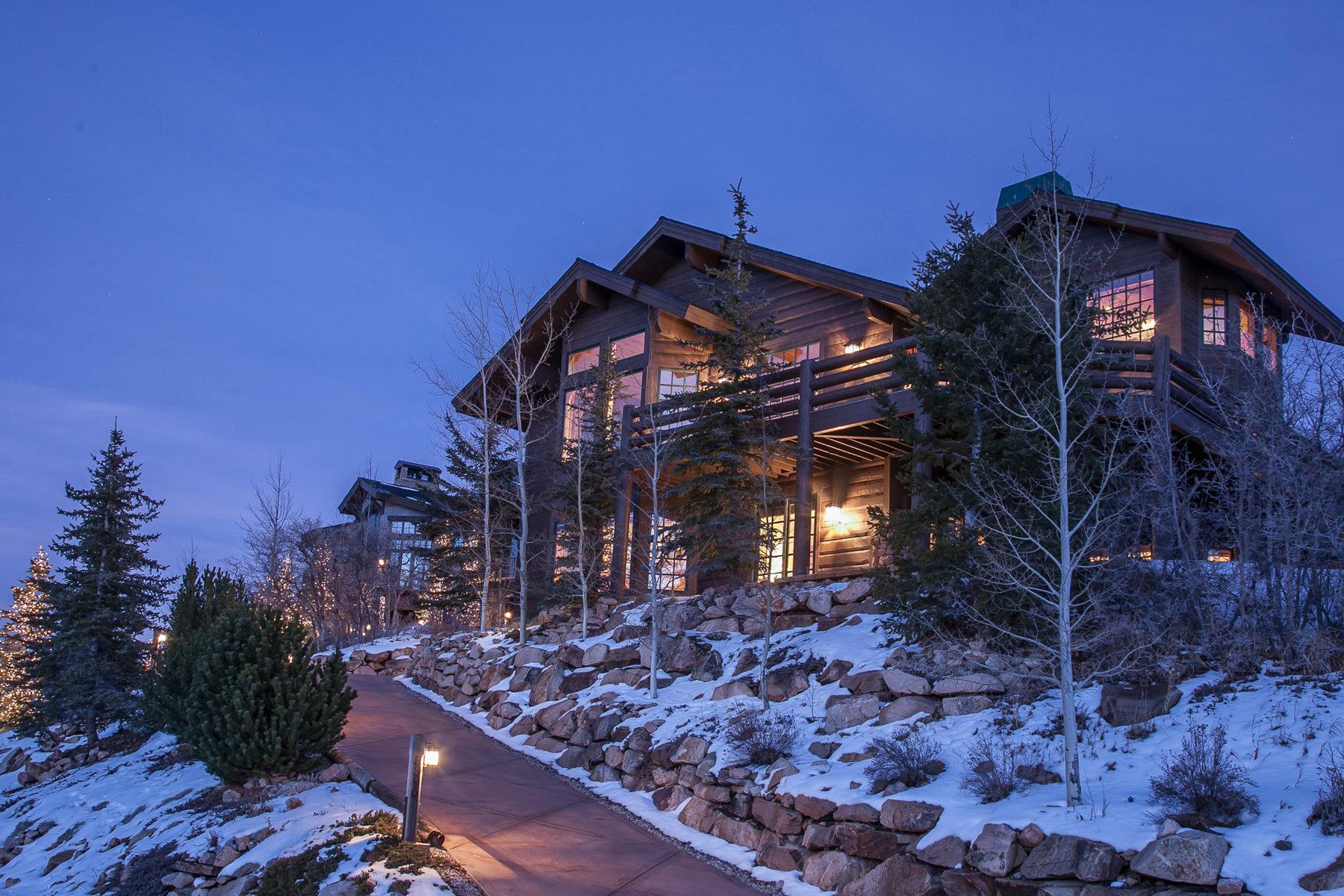 独户住宅 为 销售 在 Spectacular Deer Valley Mountain Home with Postcard Views 3396 Solamere Dr Park City, 犹他州 84060 美国