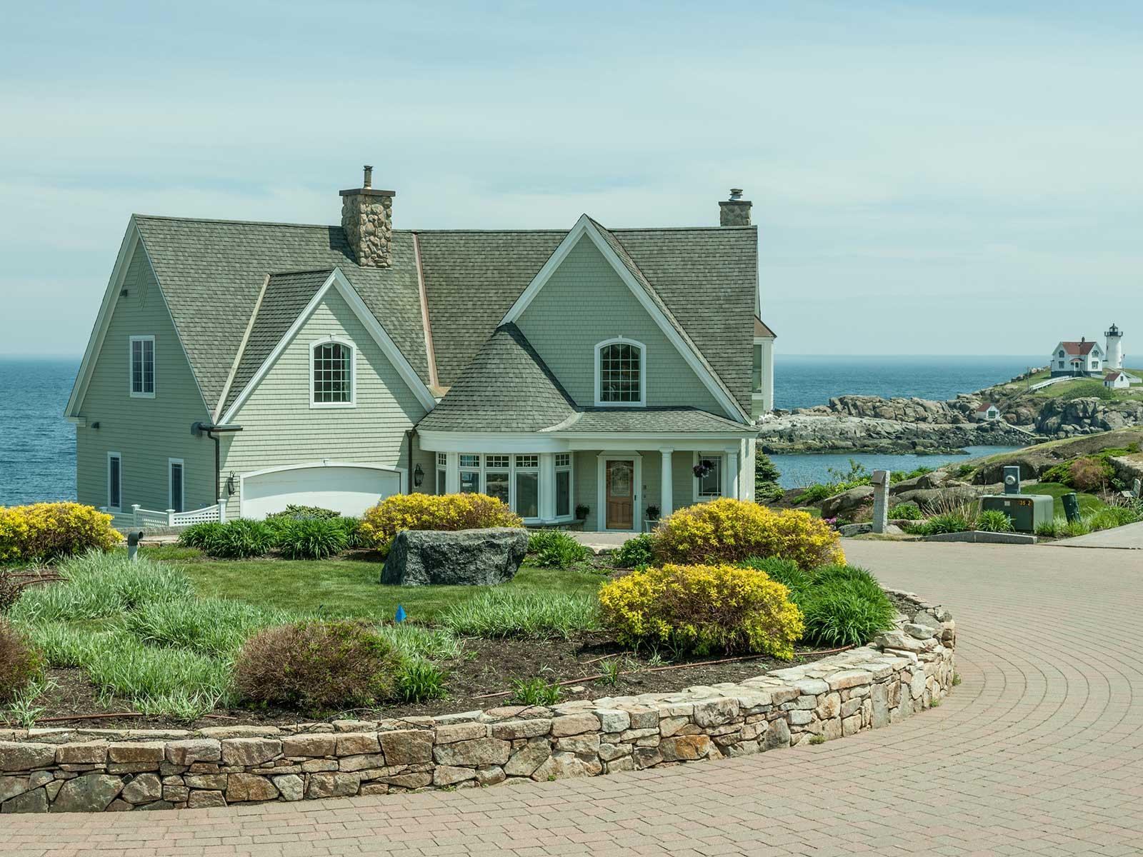 Single Family Home for Sale at Bold Ocean and Nubble Lighthouse Views 8 Lighthouse Watch York, Maine 03909 United States