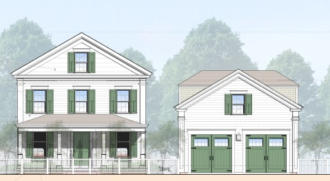 단독 가정 주택 용 매매 에 New Construction in Edgartown Village 63 Peases Point Way North Edgartown, 매사추세츠, 02539 미국
