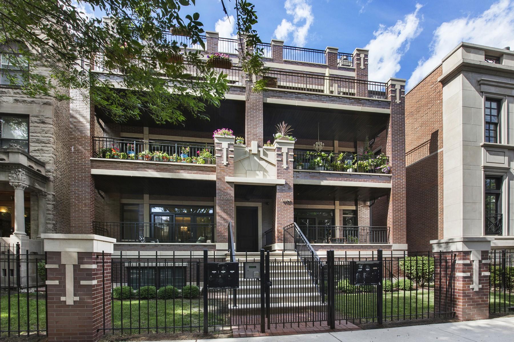 Dubleks için Satış at Luxurious Lincoln Park Duplex 1124 W Wrightwood Avenue Unit 1E Lincoln Park, Chicago, Illinois, 60614 Amerika Birleşik Devletleri