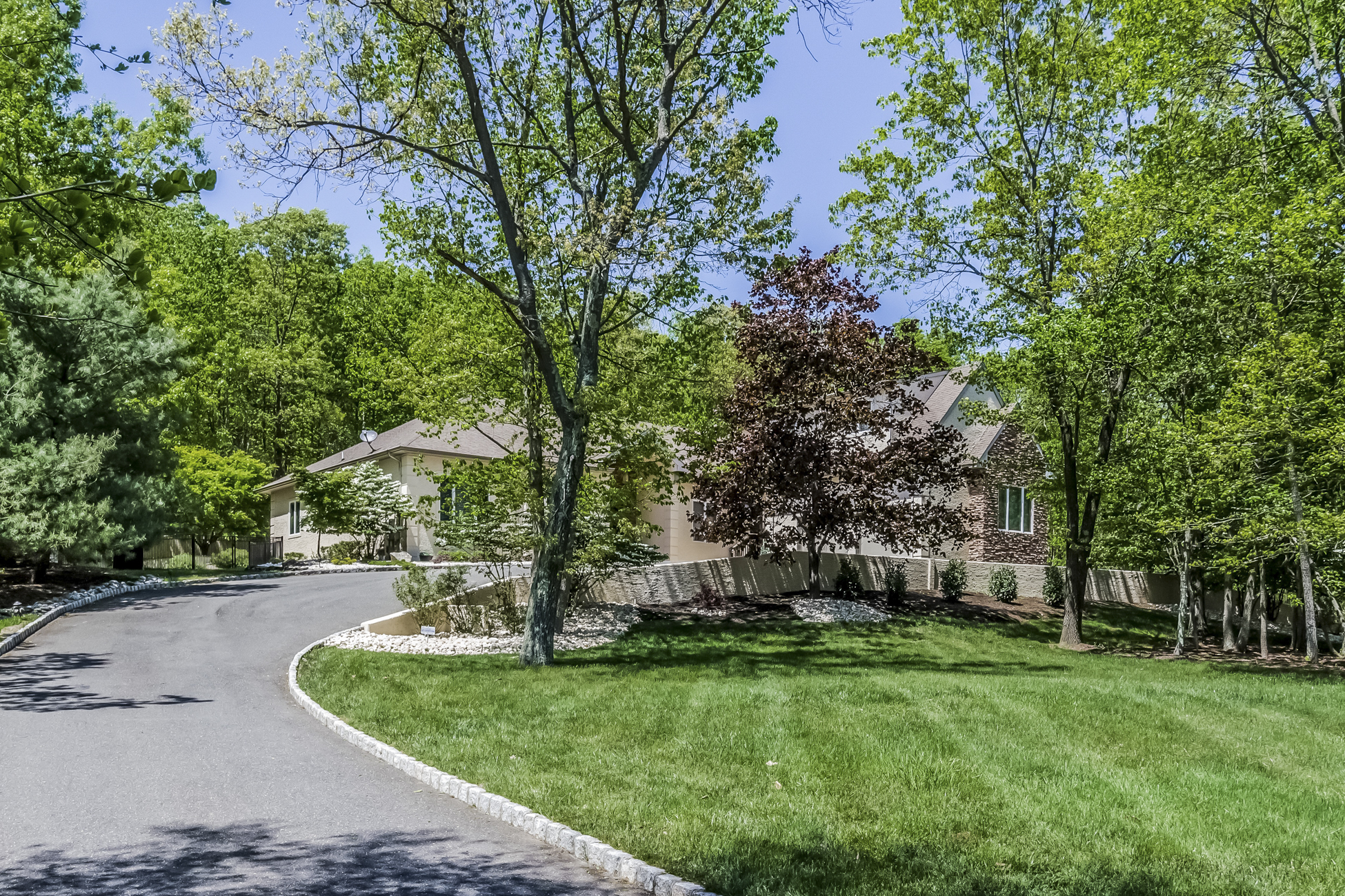sales property at Custom Retreat with Woodland Views - Millstone Township