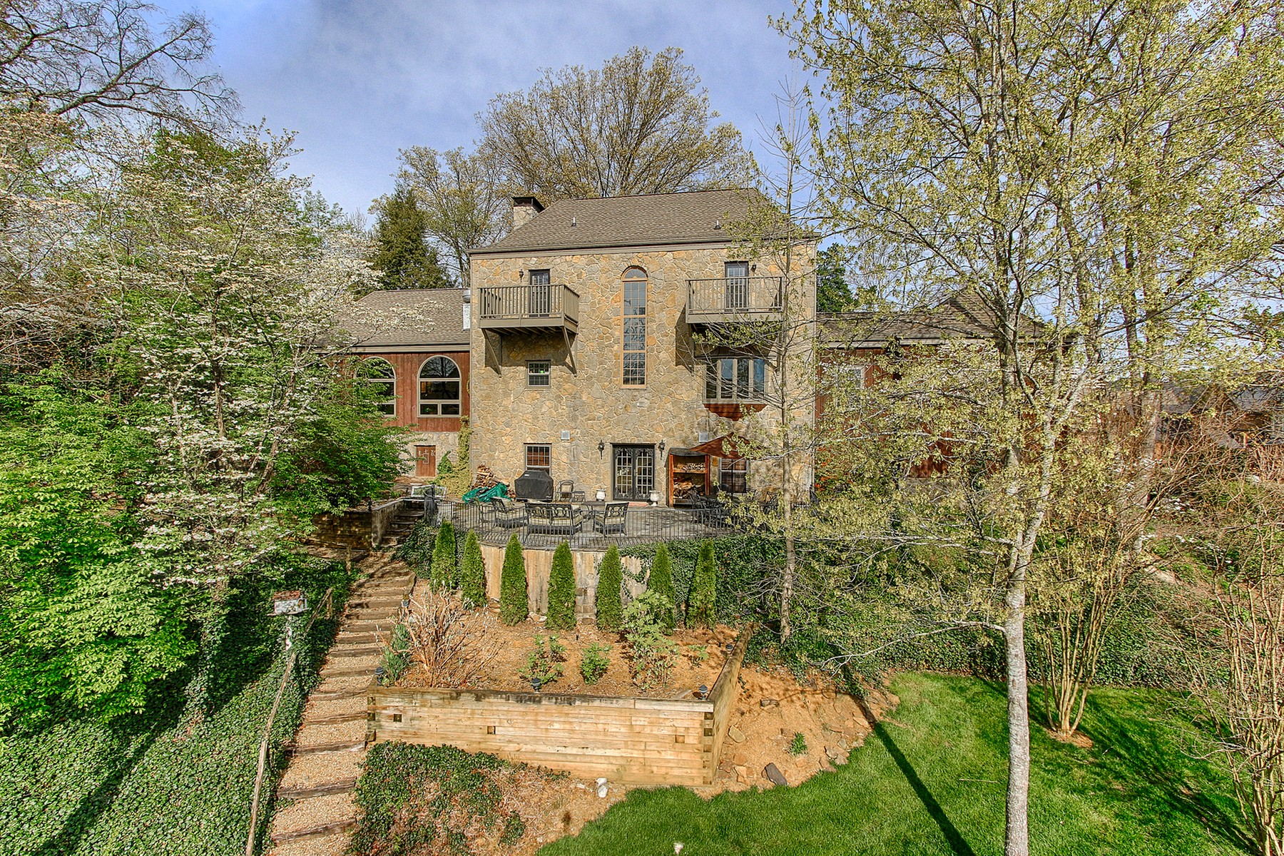 sales property at Stately Stone and Cedar Home