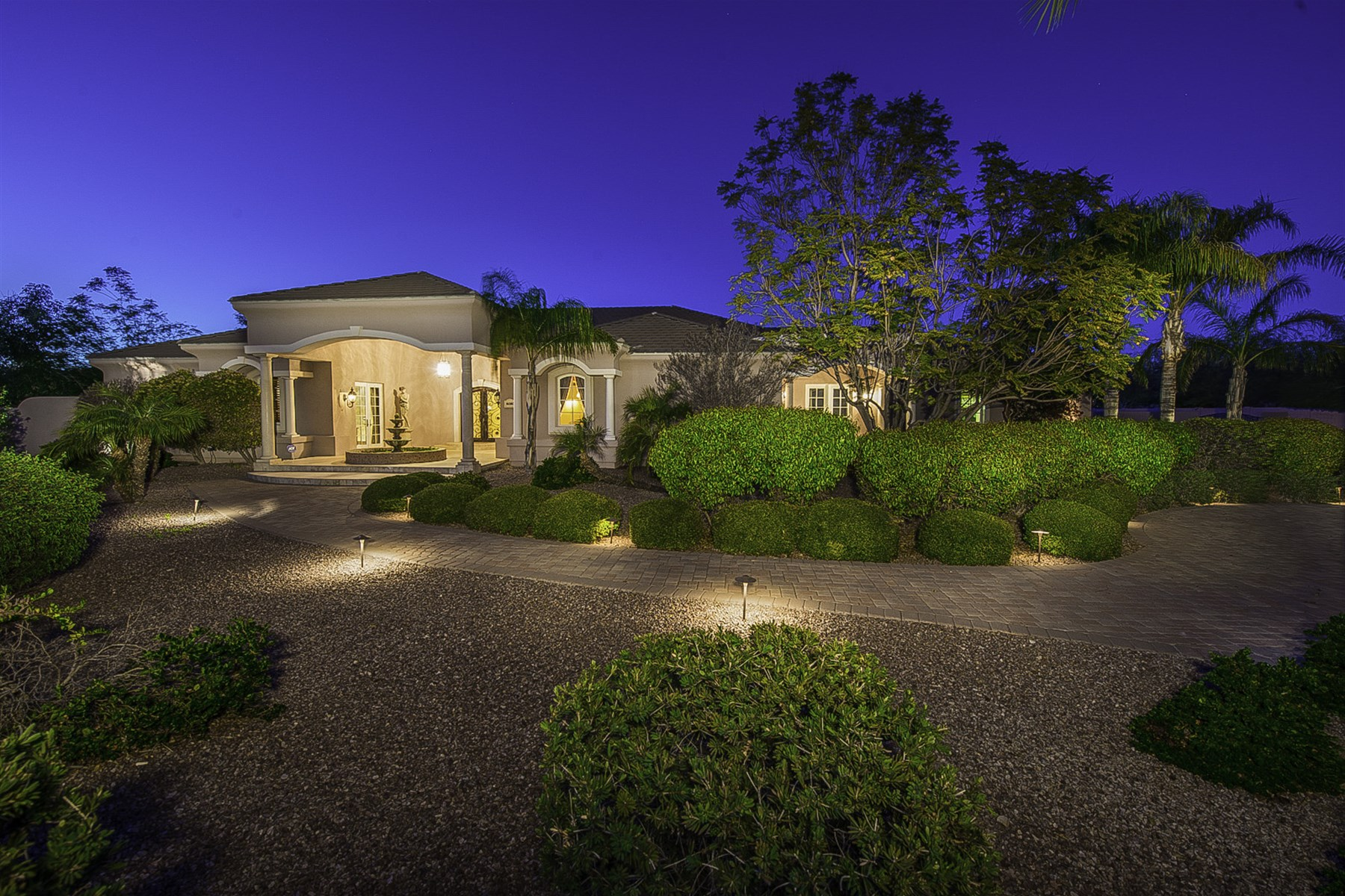 sales property at Tuscan-Style Custom Home On Over 1.6 Acres Is An Entertainer's Estate