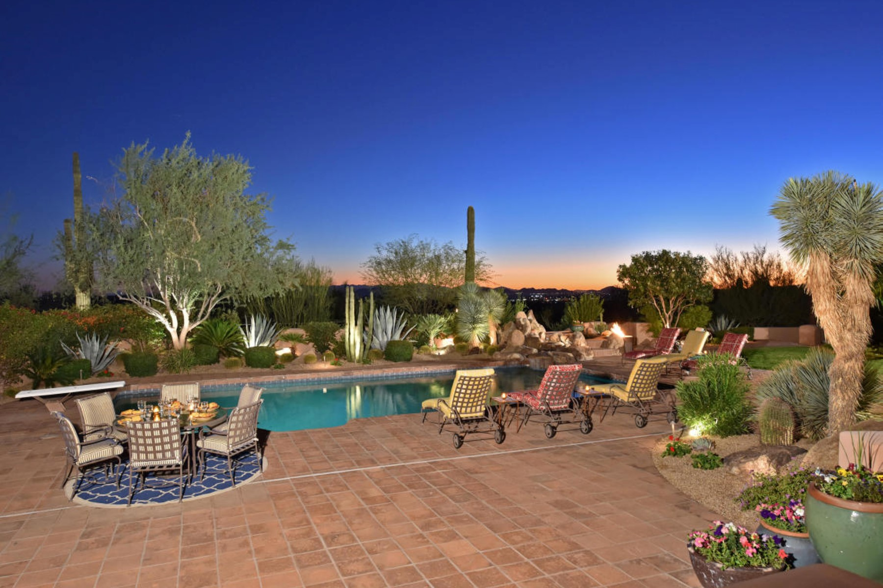 Single Family Home for Sale at authentically renovated Santa Fe estate perched on over 3.5 acres 22602 N Dobson Rd Scottsdale, Arizona 85255 United States